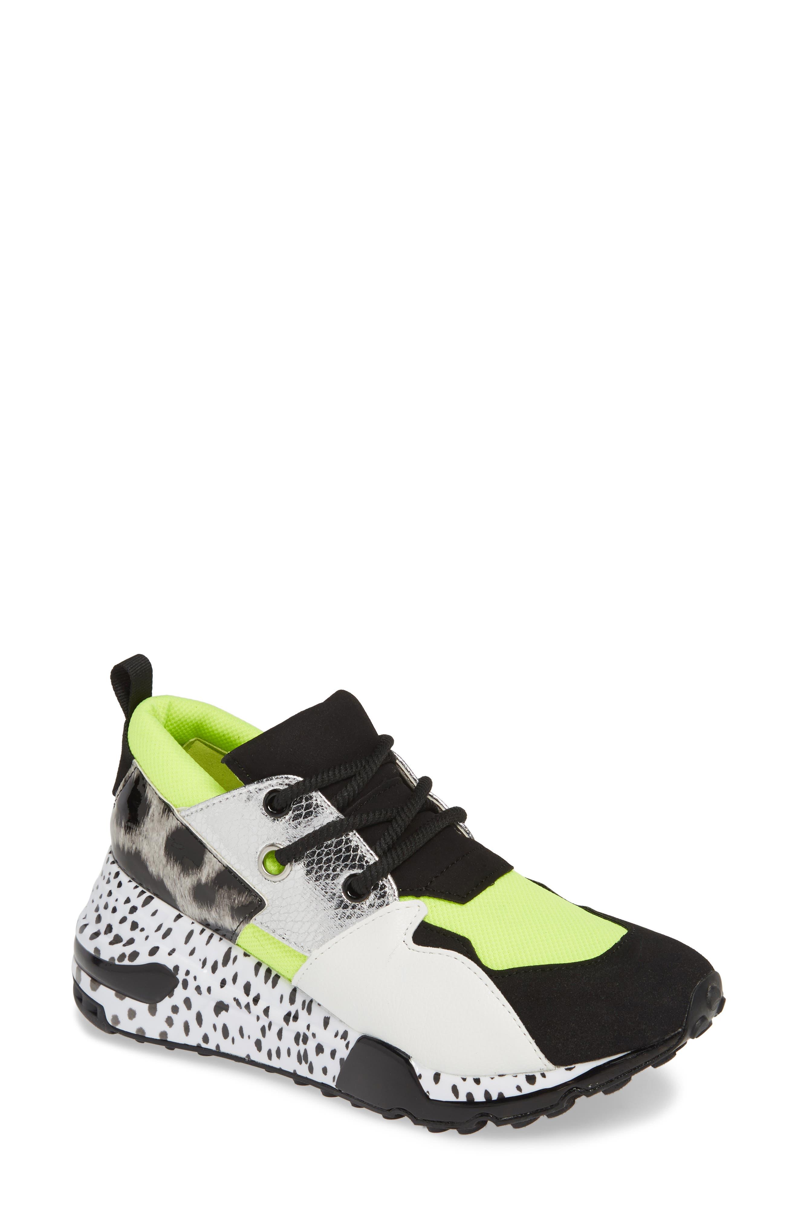 Cliff Sneaker,                             Main thumbnail 1, color,                             NEON GREEN