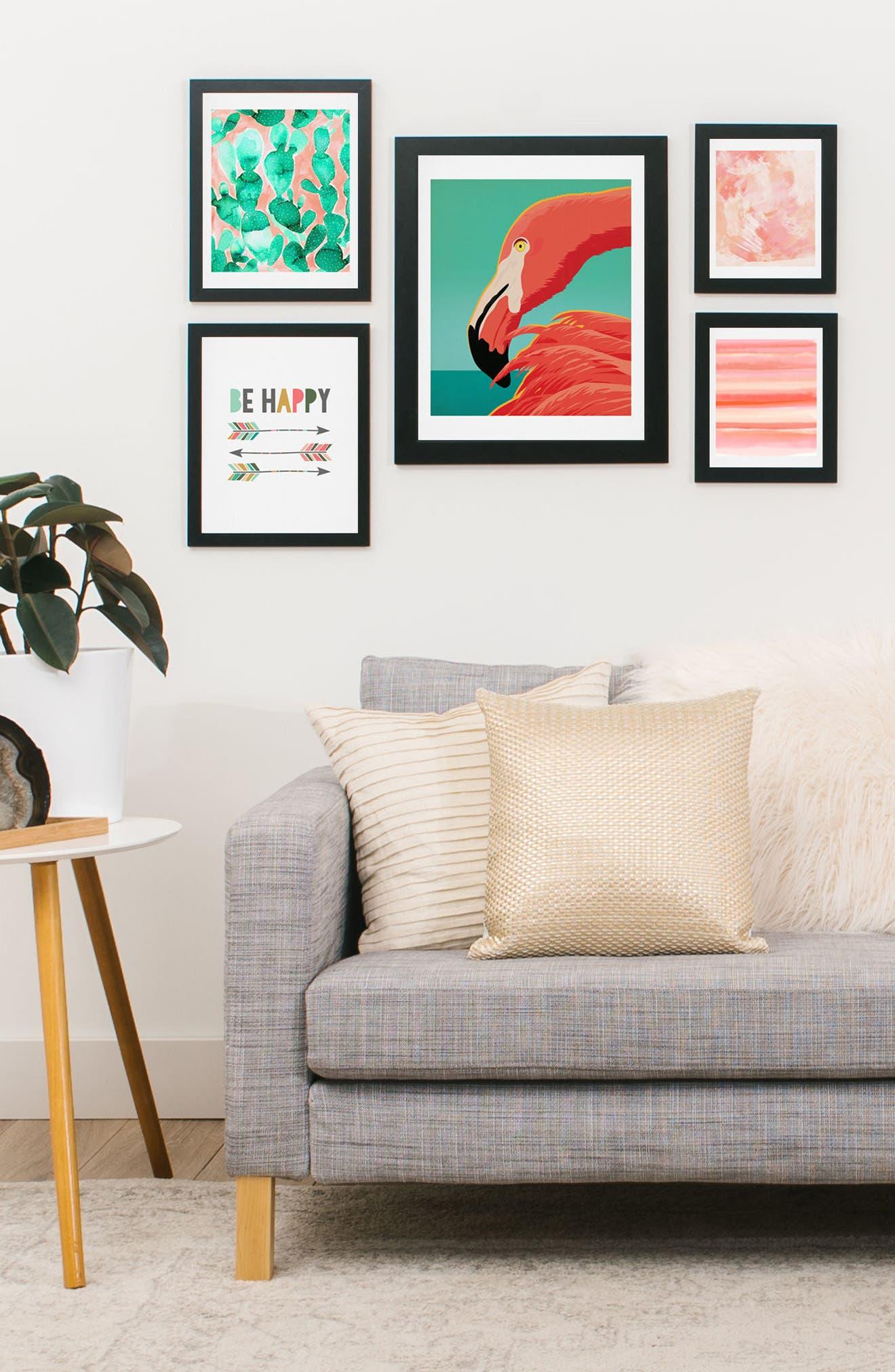 Tropical Flamingo Five-Piece Gallery Wall Art Print Set,                             Alternate thumbnail 2, color,                             950