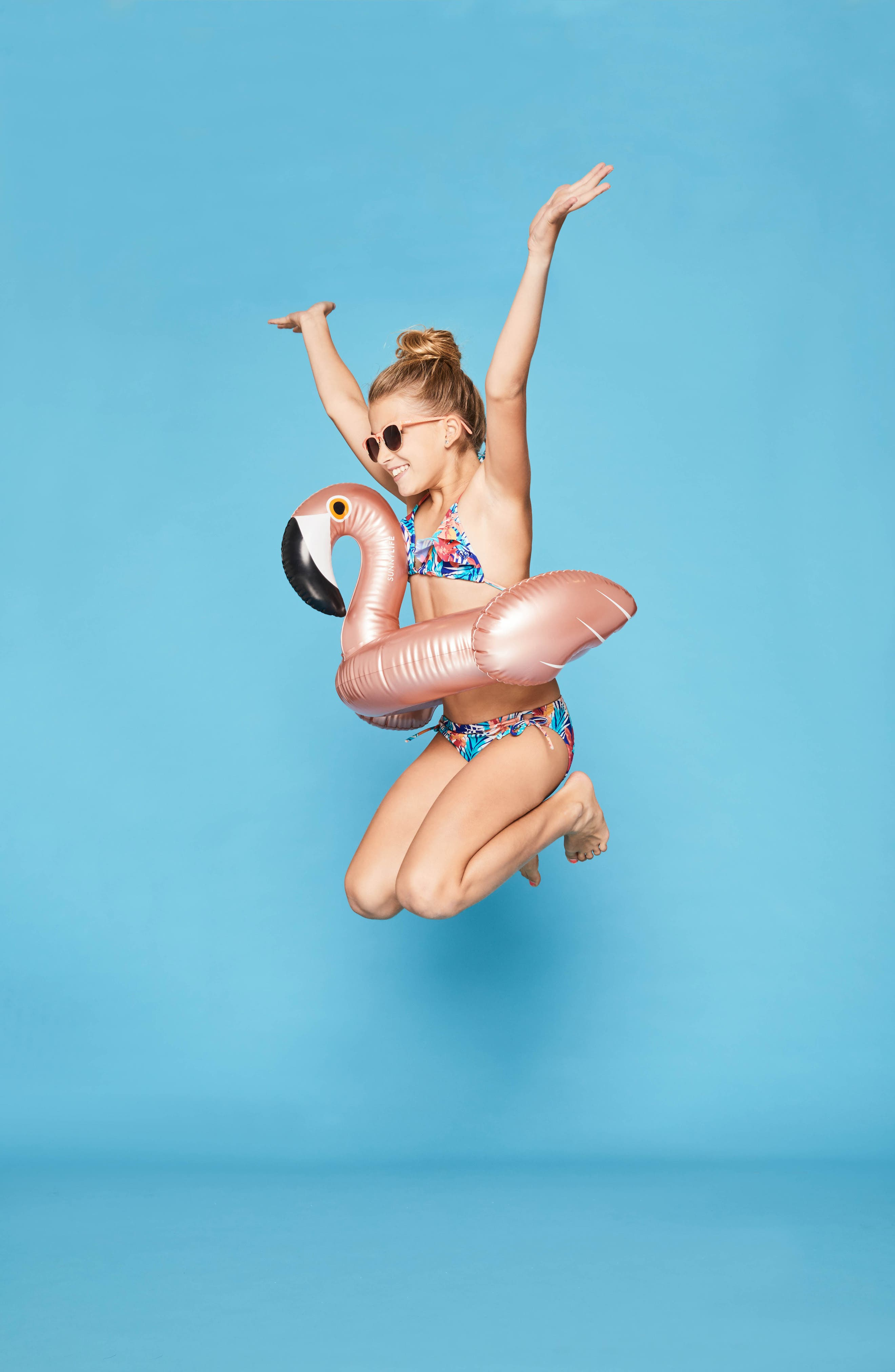 Kiddy Inflatable Flamingo Float,                             Alternate thumbnail 3, color,