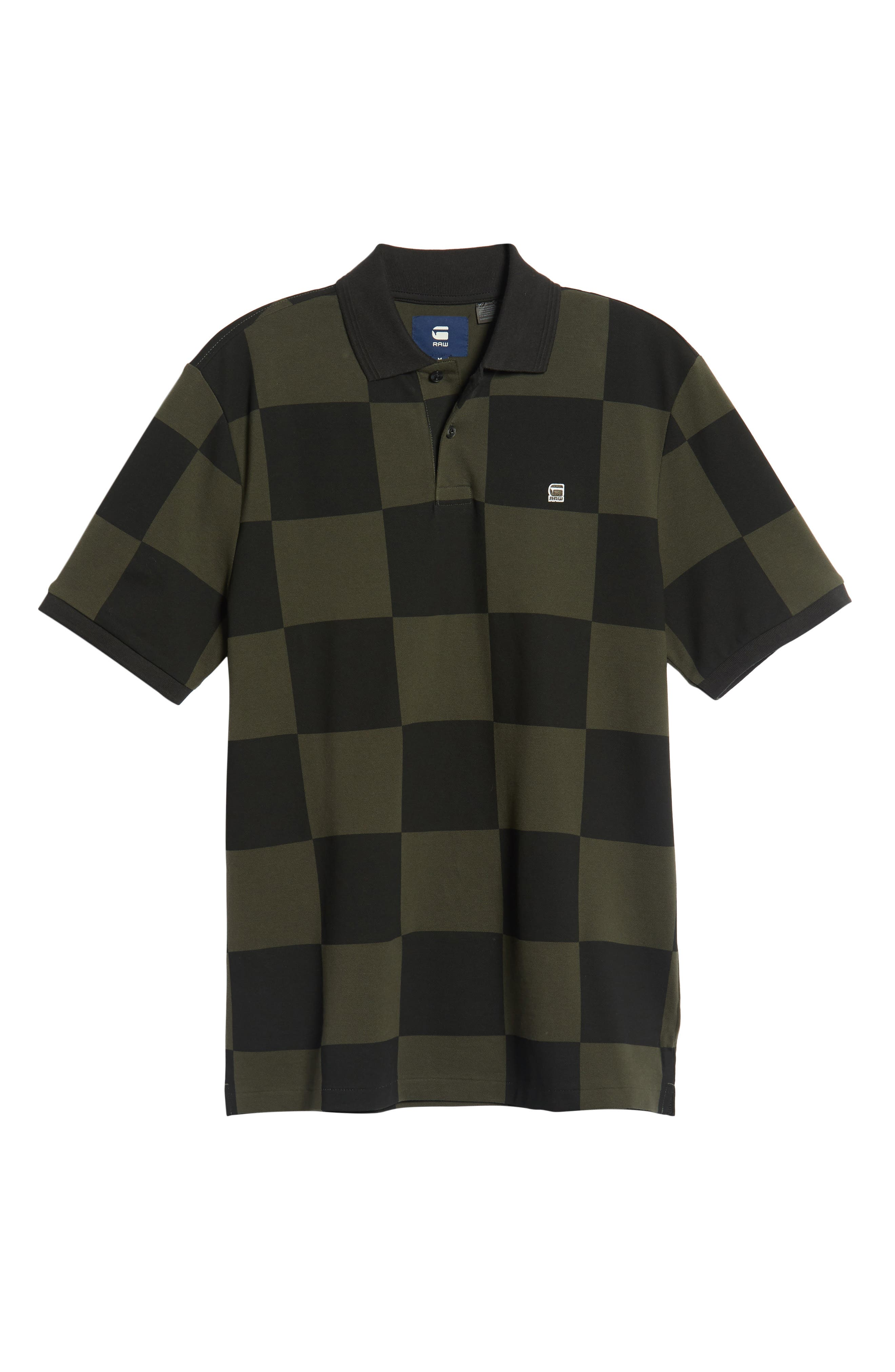 G-STAR RAW,                             Holliday Core Checker Piqué Polo,                             Alternate thumbnail 6, color,                             020