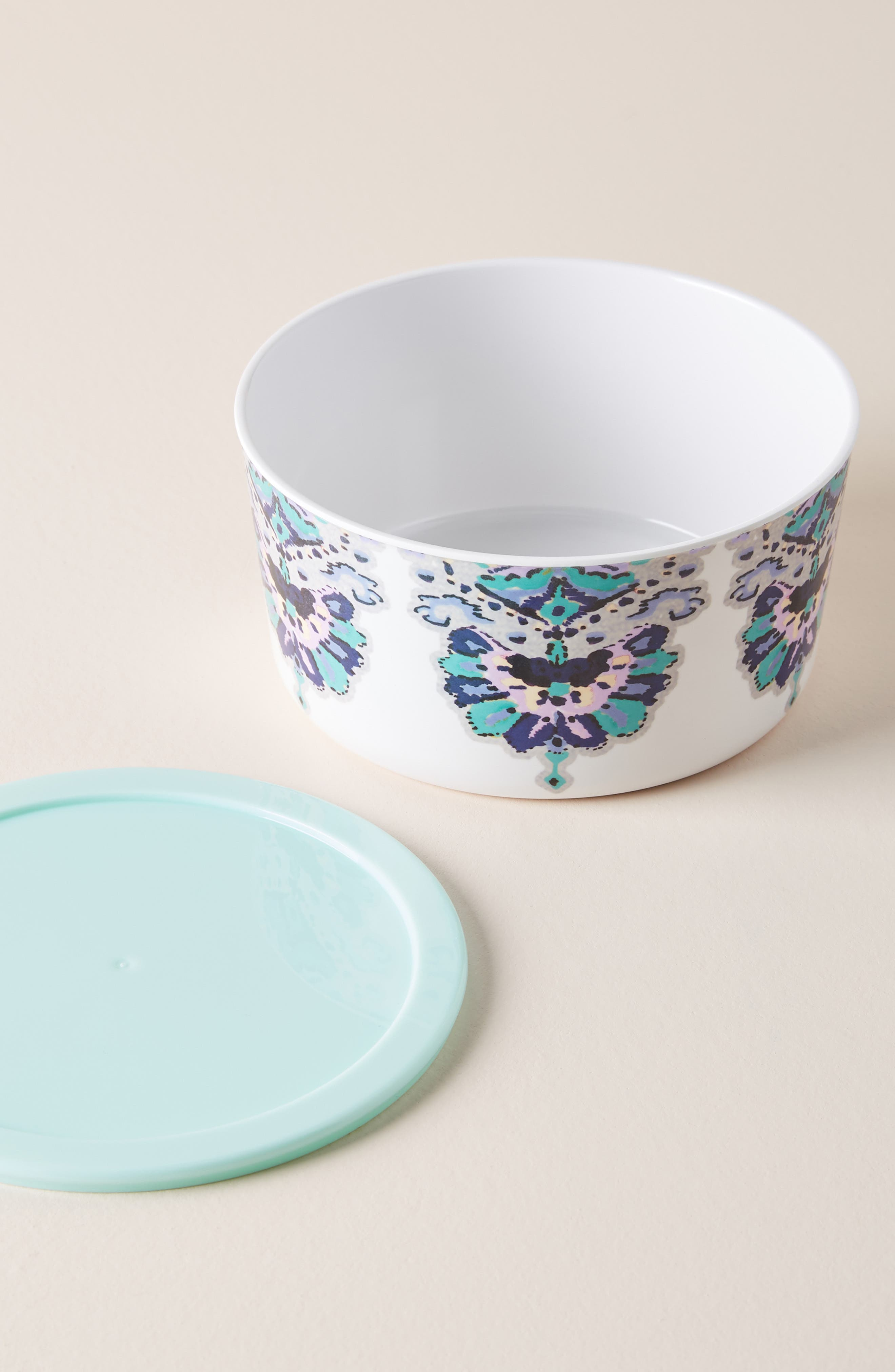 Lilia Melamine Storage Bowl,                             Main thumbnail 1, color,                             AQUA - SMALL
