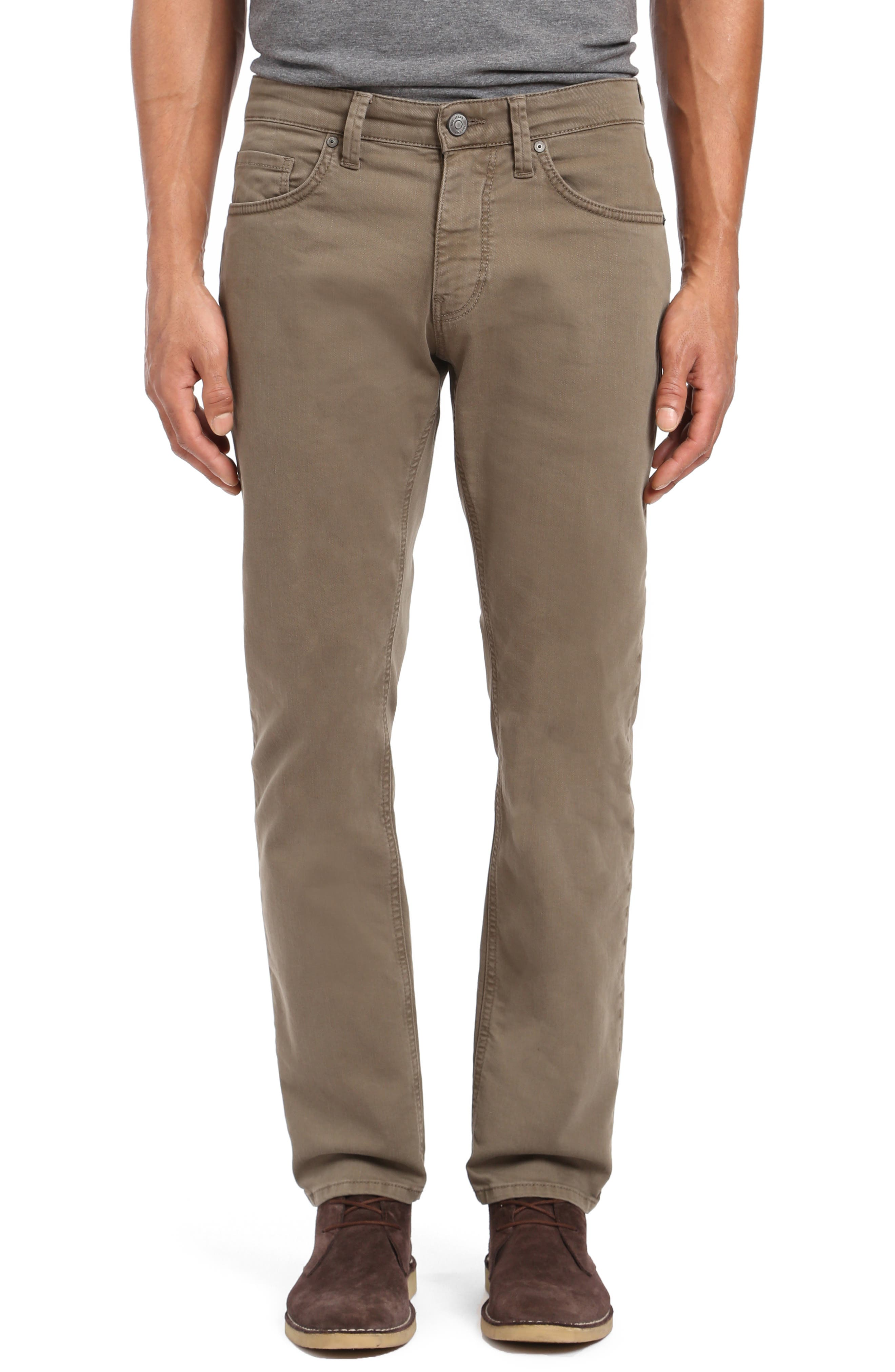 Zach Straight Leg Jeans,                         Main,                         color, KHAKI WASHED COMFORT
