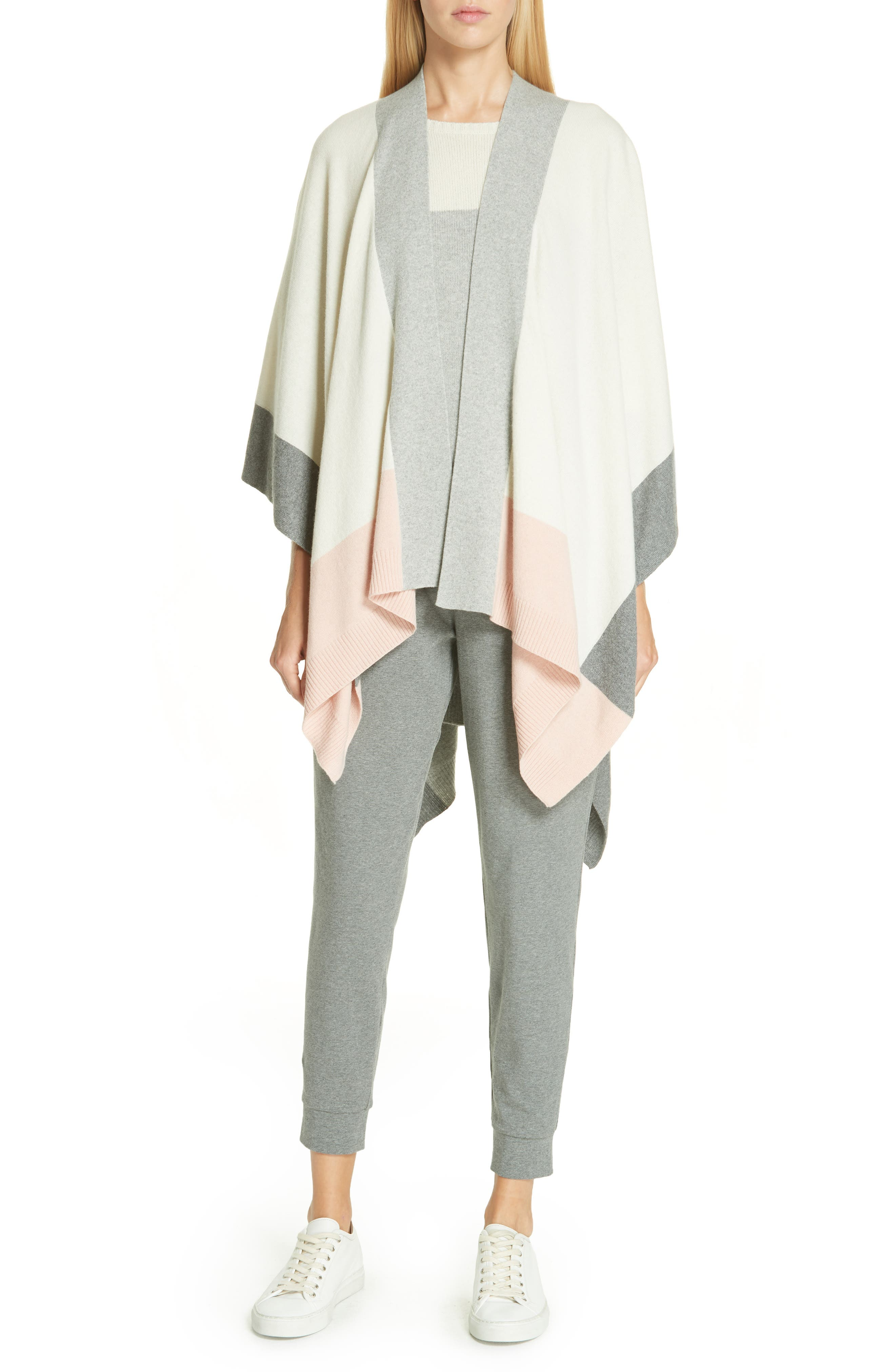 Eileen Fisher Boxy Cashmere & Wool Sweater, White