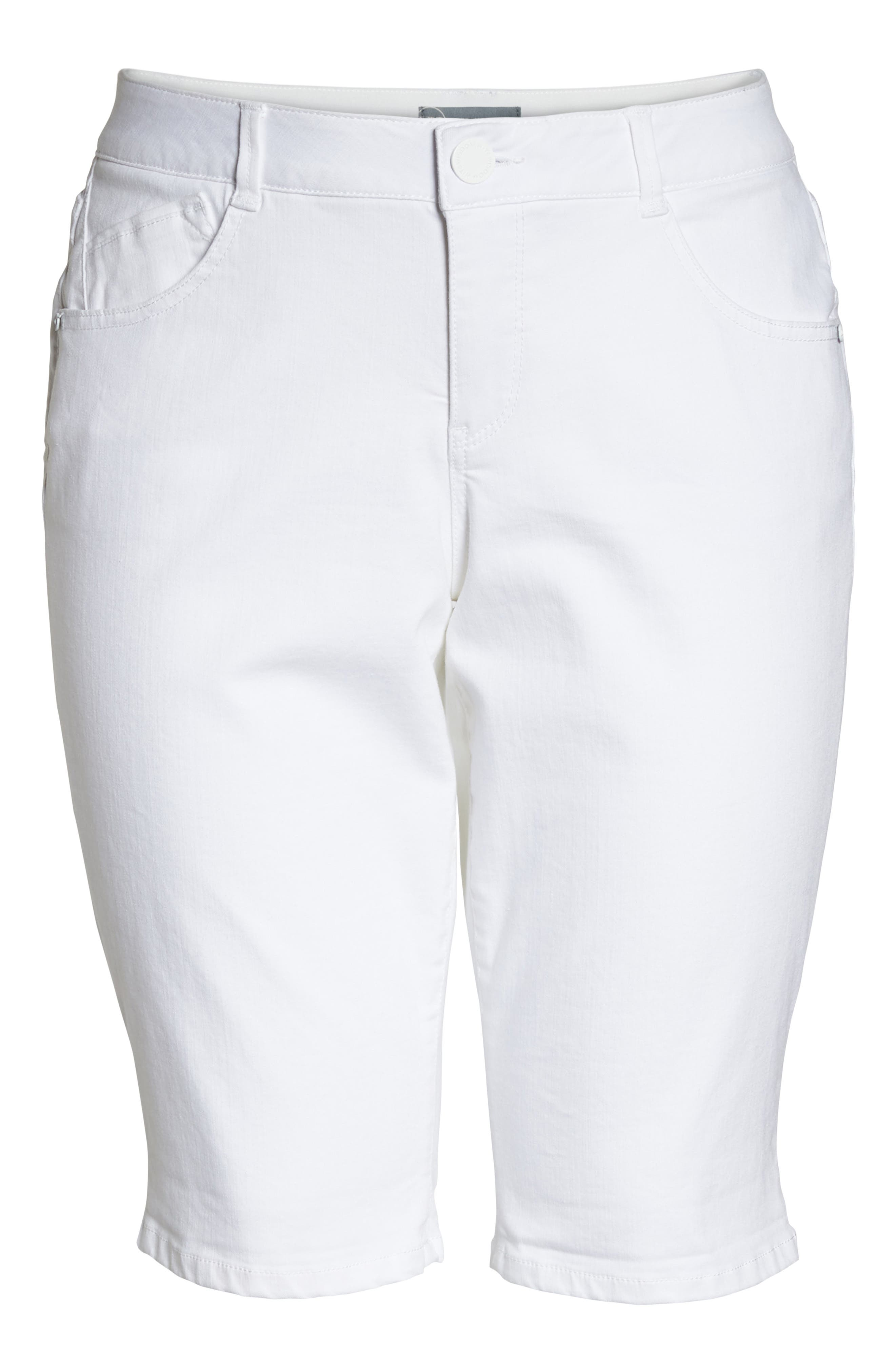WIT & WISDOM,                             Ab-solution Bermuda Shorts,                             Alternate thumbnail 7, color,                             OPTIC WHITE