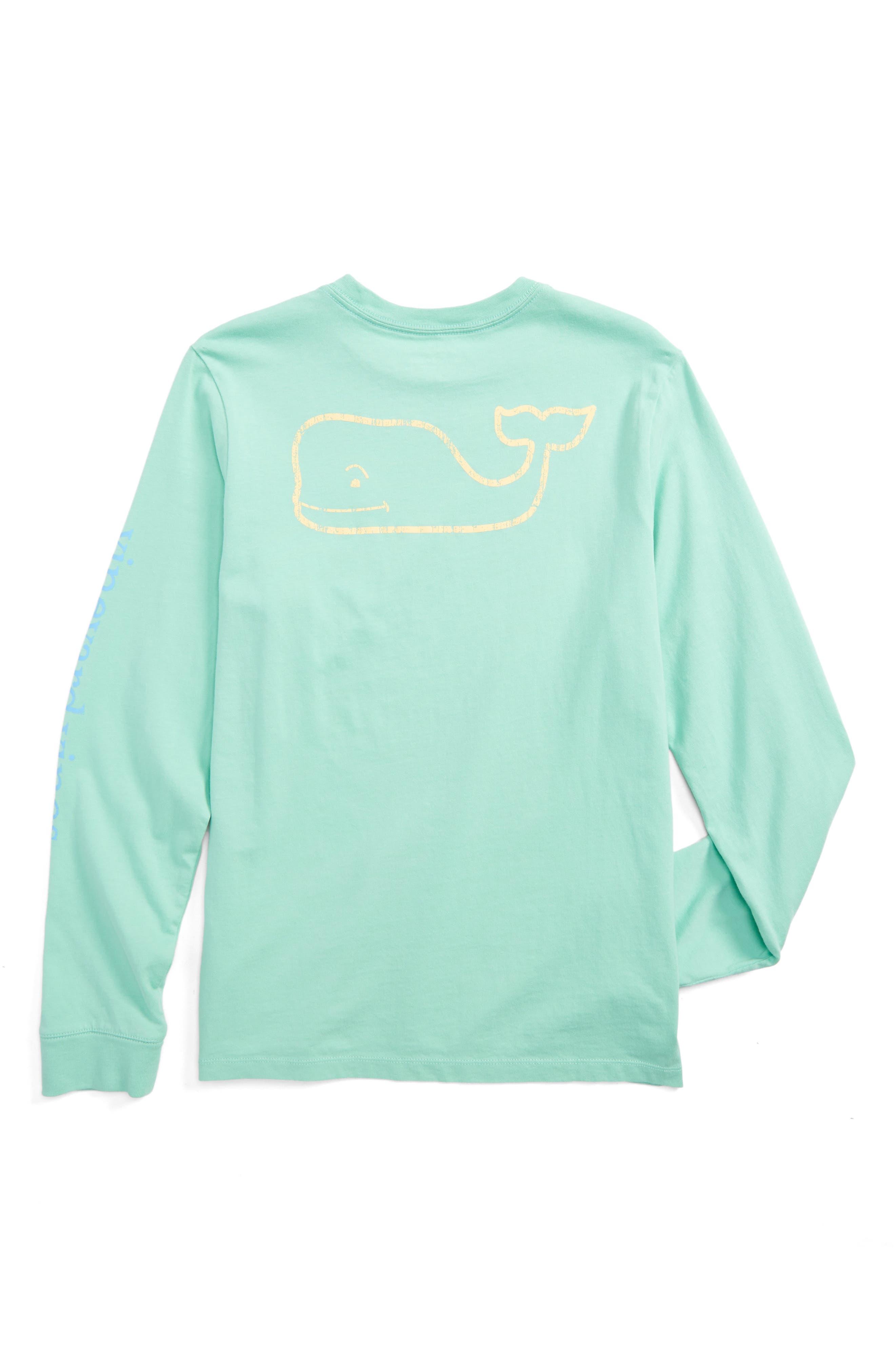 Vintage Whale Long Sleeve Pocket T-Shirt,                             Alternate thumbnail 2, color,                             343