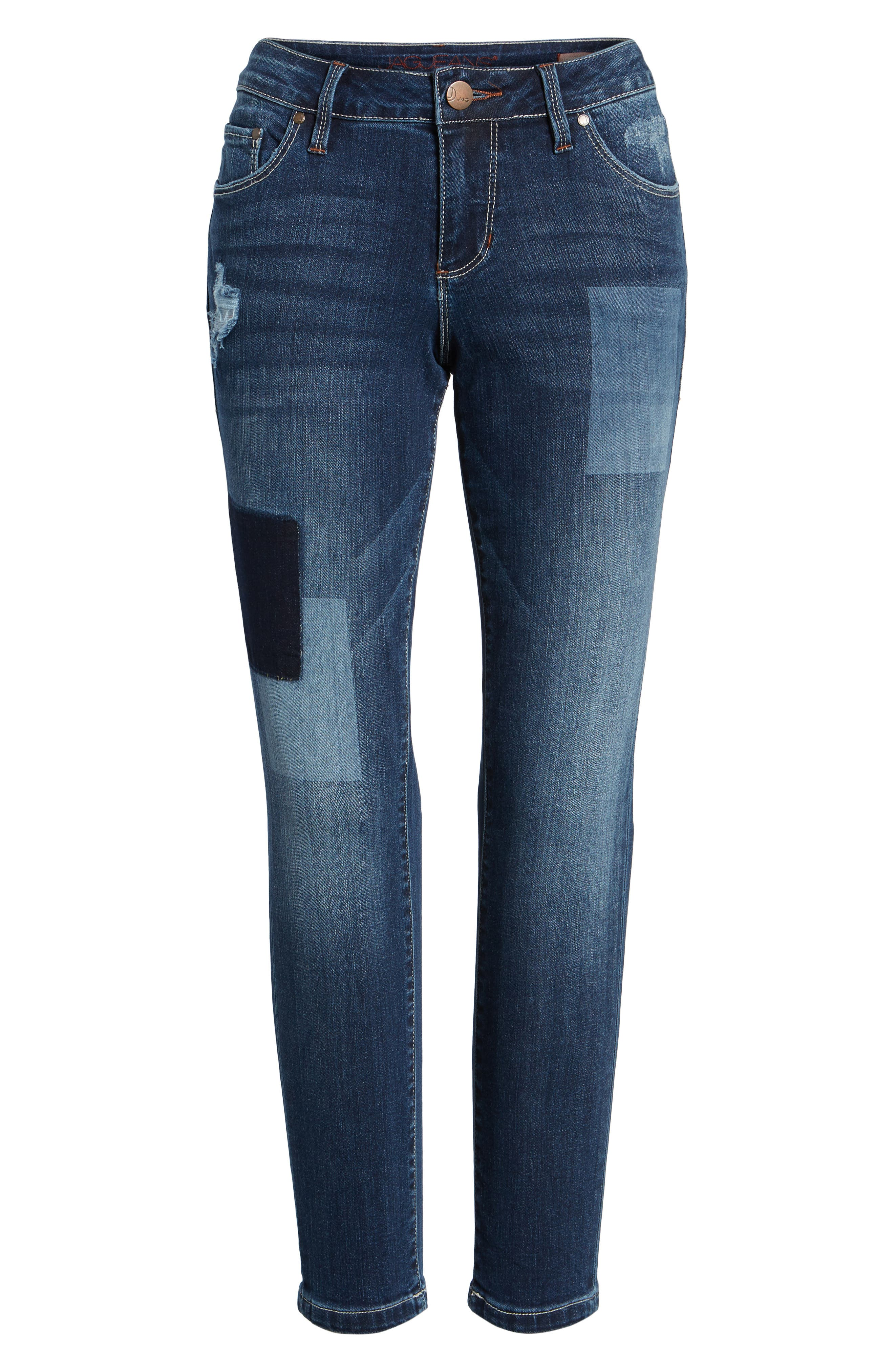 Mera Skinny Ankle Jeans,                             Alternate thumbnail 4, color,                             420
