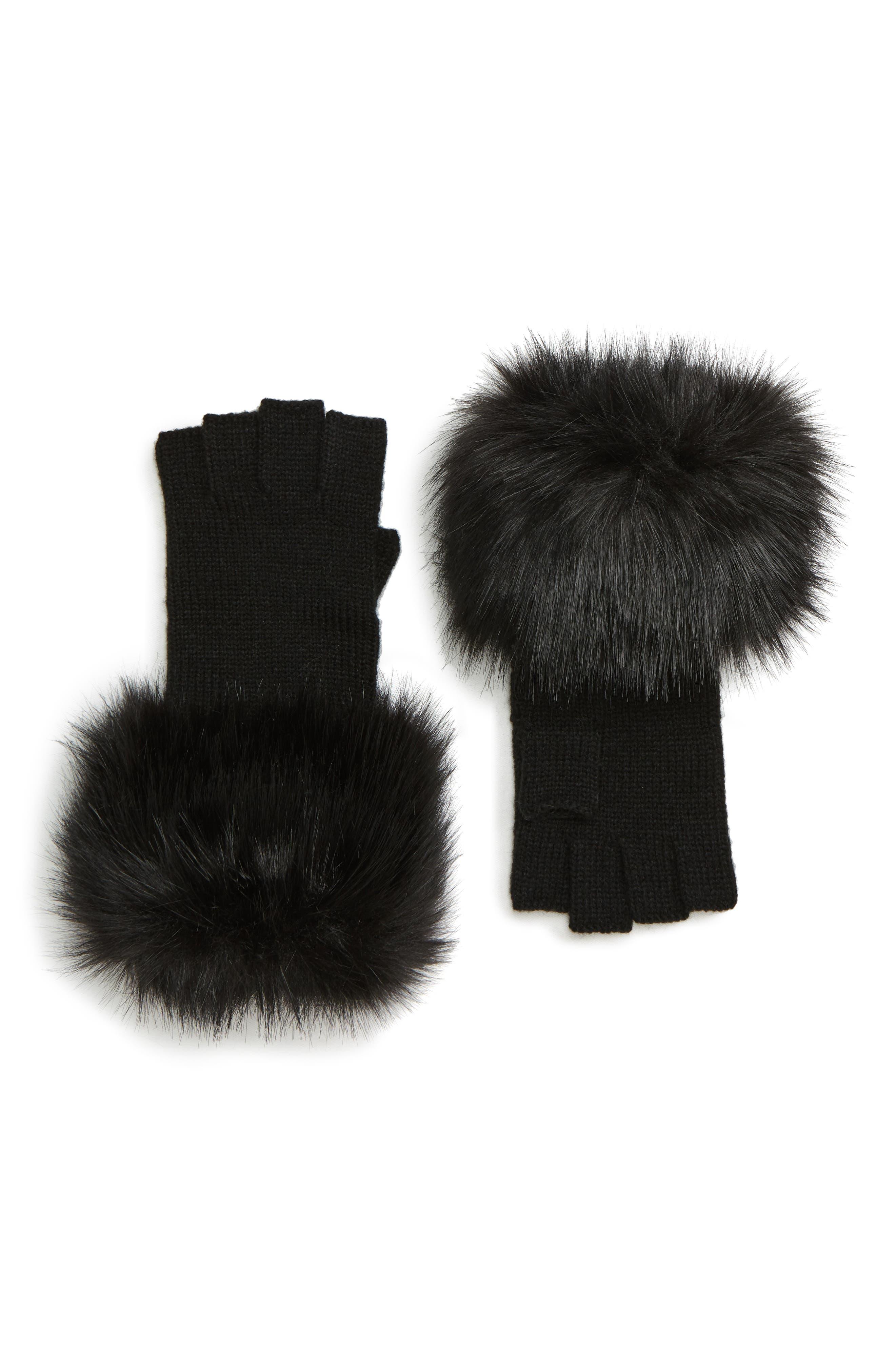 Fingerless Gloves,                         Main,                         color, 001