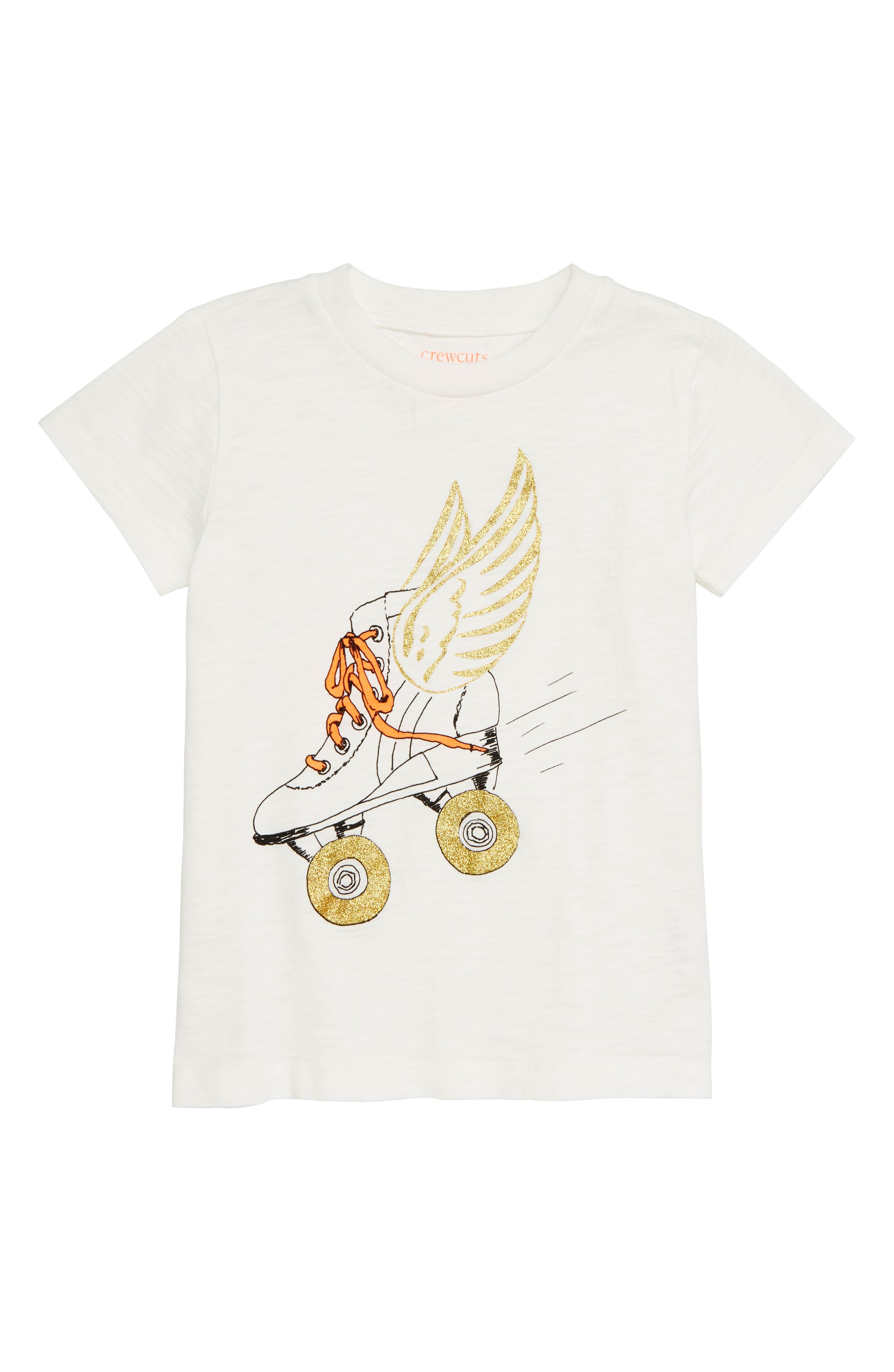 Roller Skate Graphic Tee,                             Main thumbnail 1, color,                             IVORY