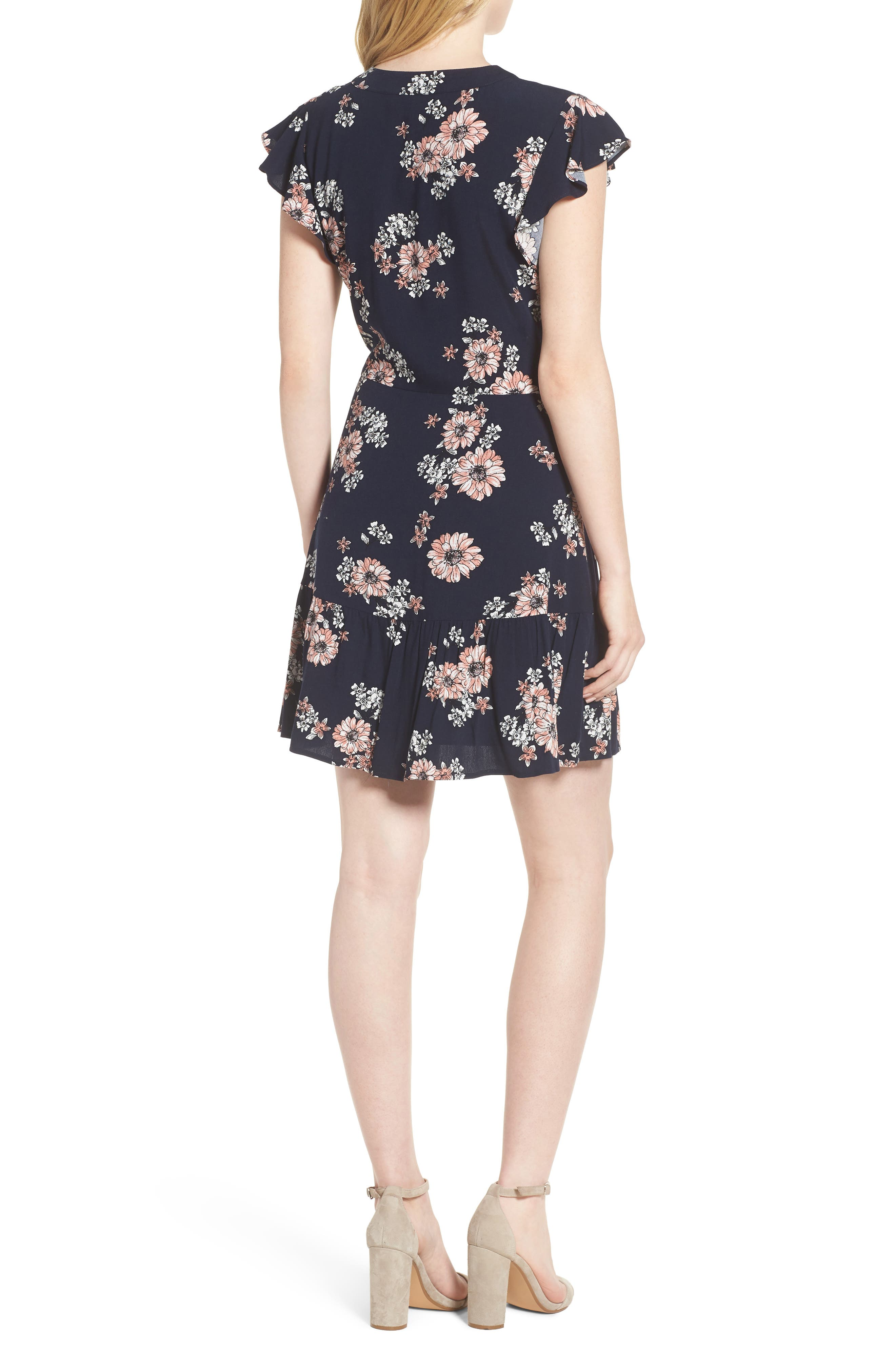 Dalma Floral Print Dress,                             Alternate thumbnail 2, color,