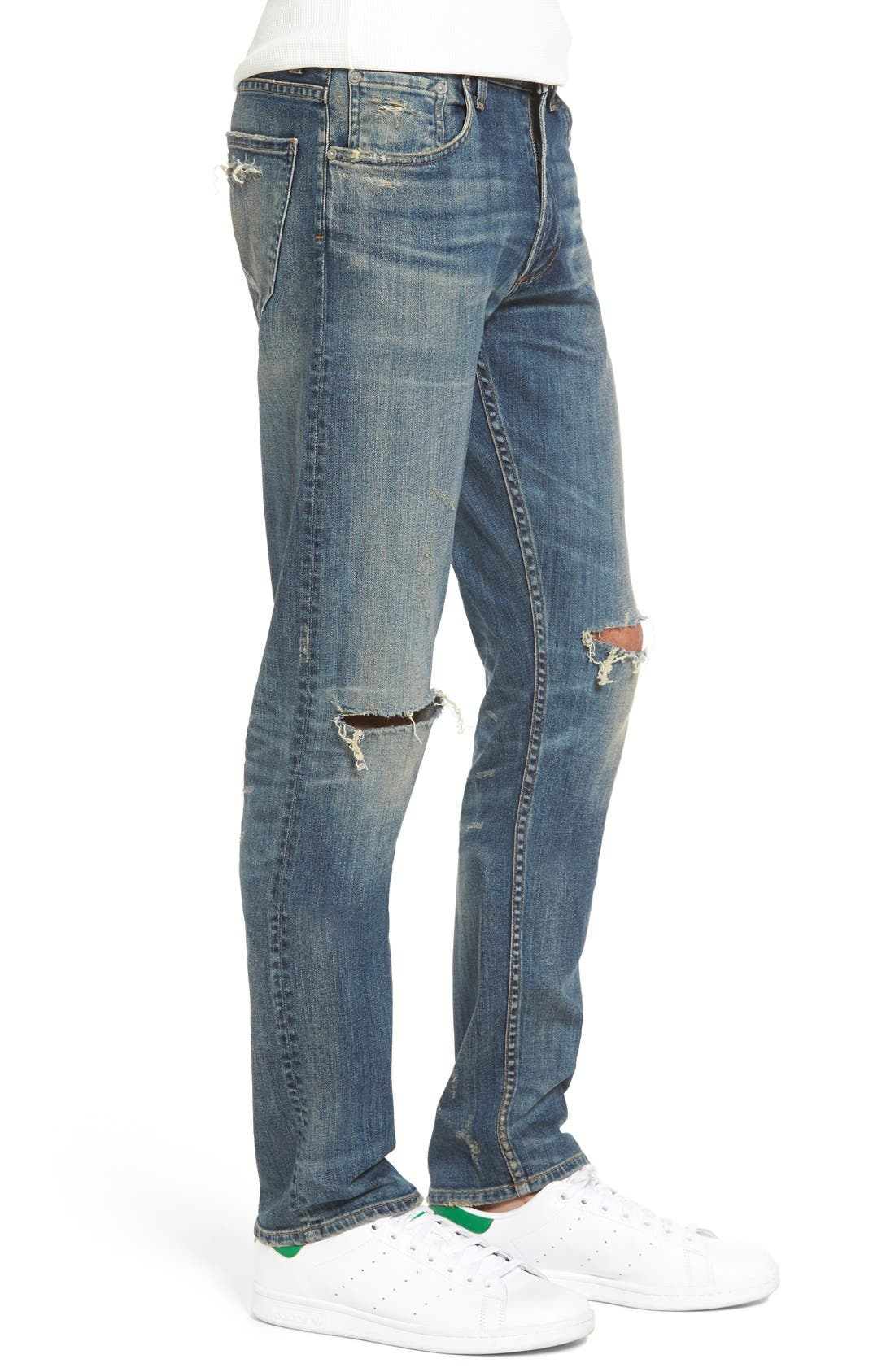Bowery Slim Fit Jeans,                             Alternate thumbnail 3, color,