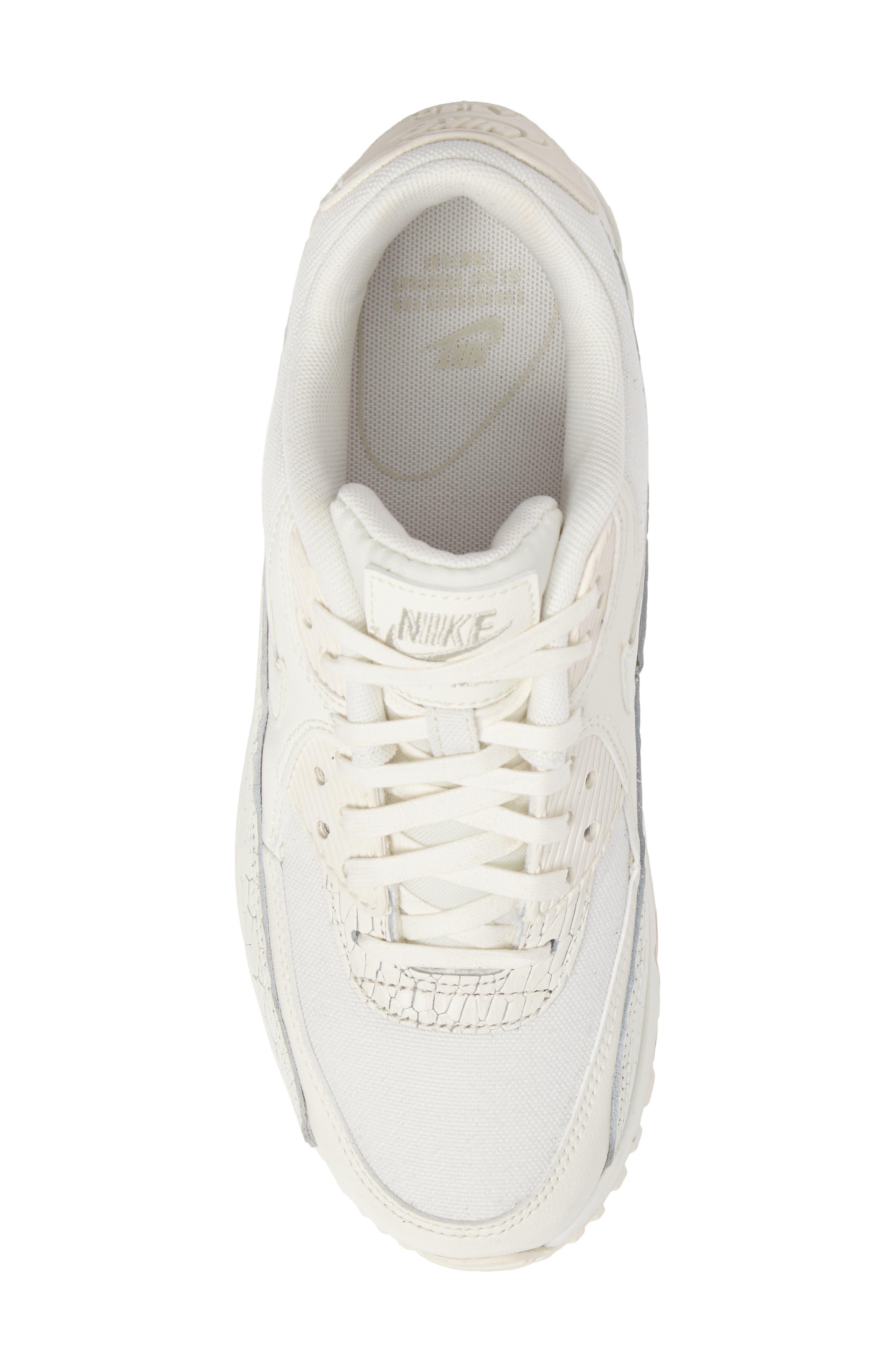 Air Max 90 Premium Leather Sneaker,                             Alternate thumbnail 5, color,                             250