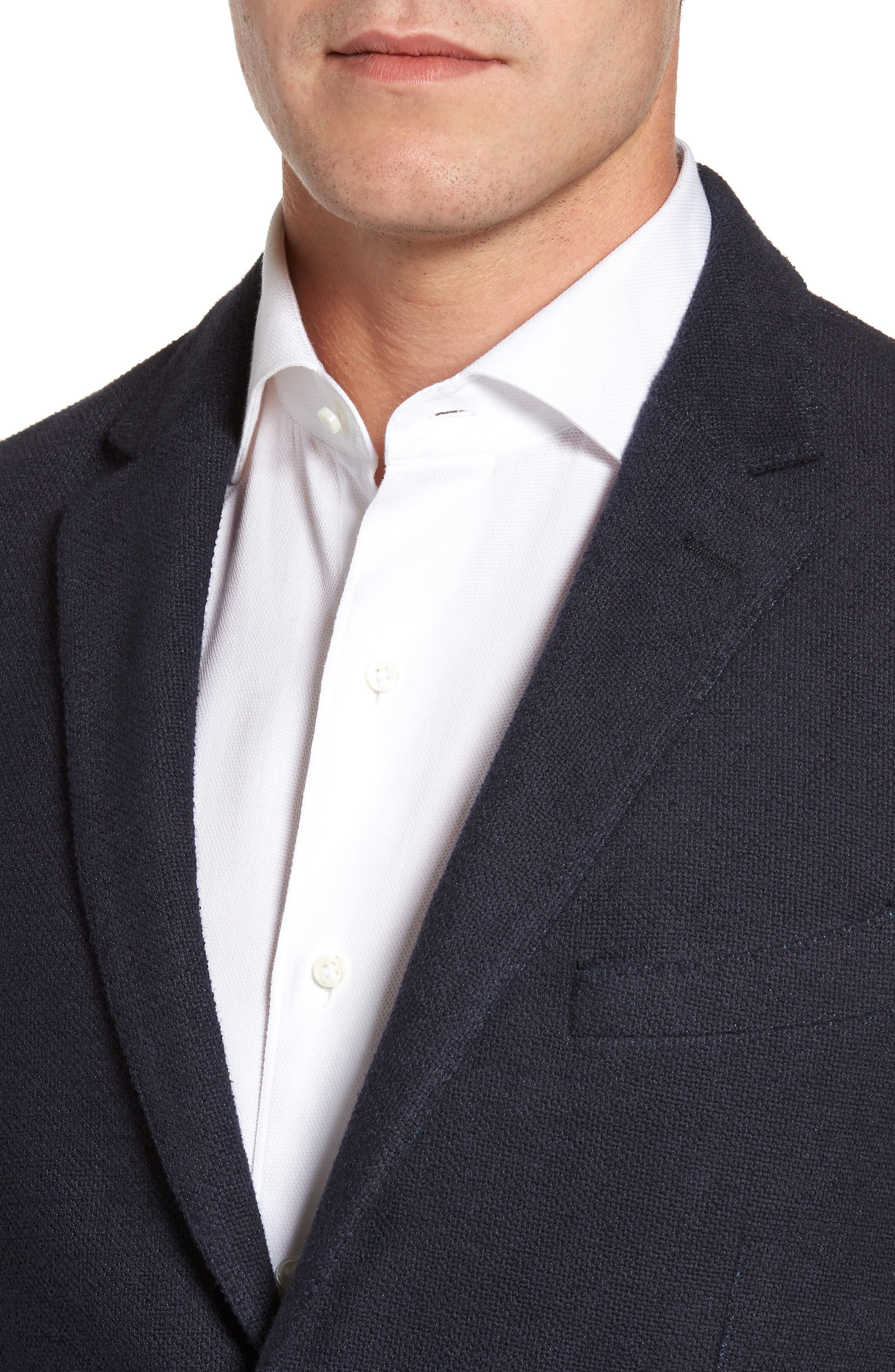 Classic Fit Cotton Blend Jersey Sport Coat,                             Alternate thumbnail 4, color,                             410