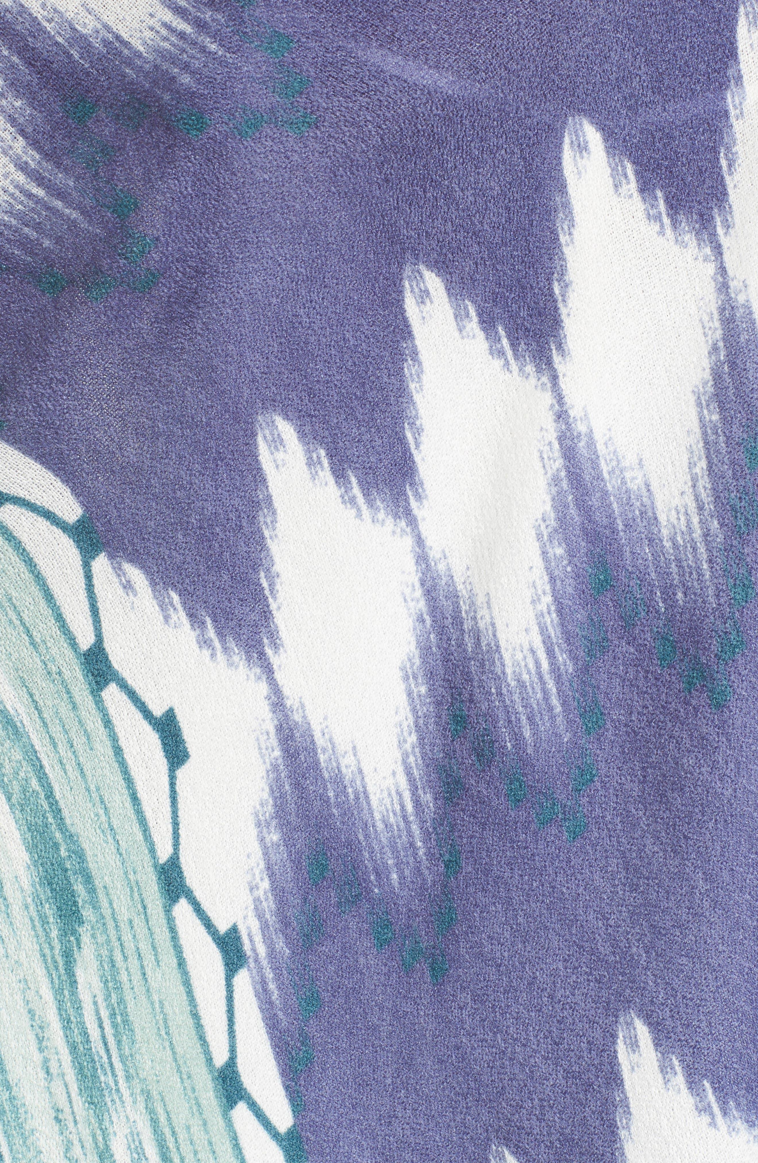 Ikat Kimono Scarf,                             Alternate thumbnail 5, color,