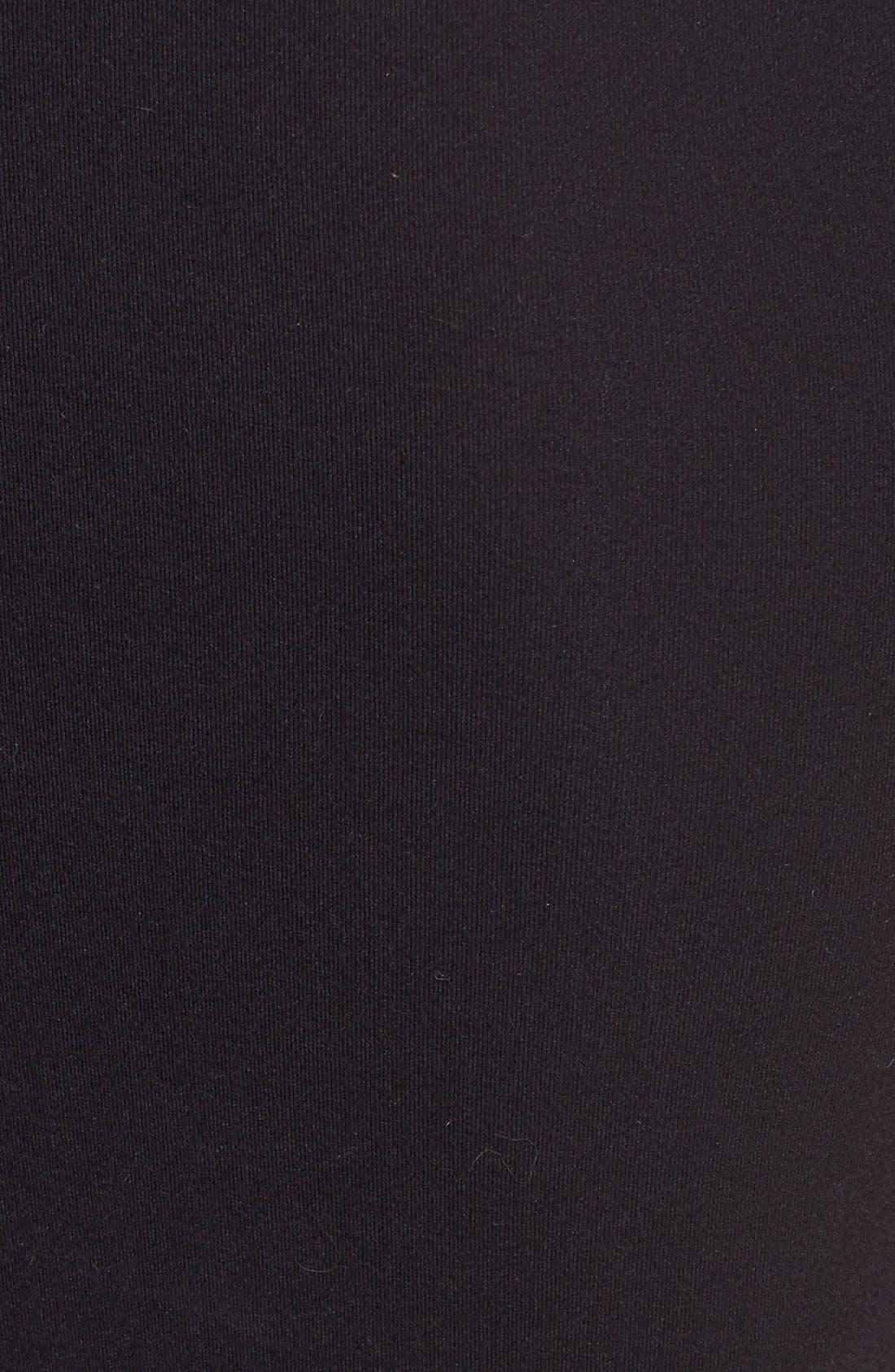 'Ballet Body' Short Sleeve Thong Bodysuit,                             Alternate thumbnail 2, color,                             BLACK