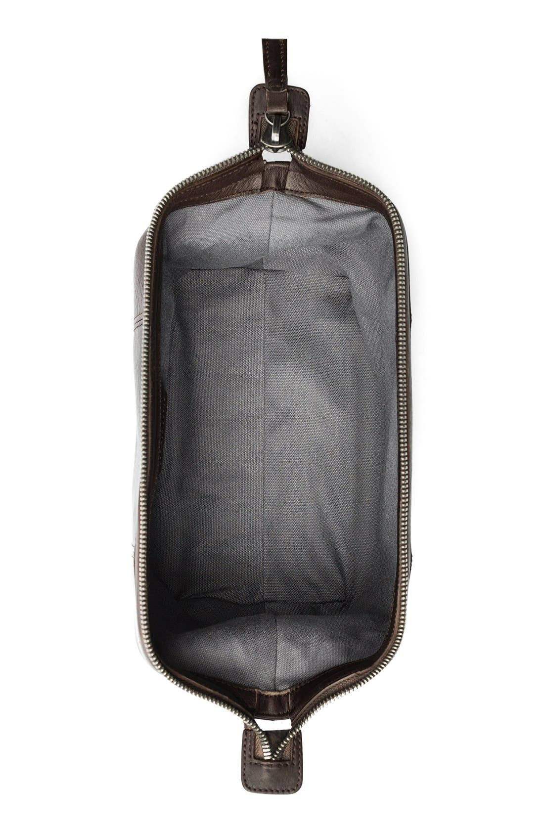 Leather Travel Kit,                             Alternate thumbnail 9, color,