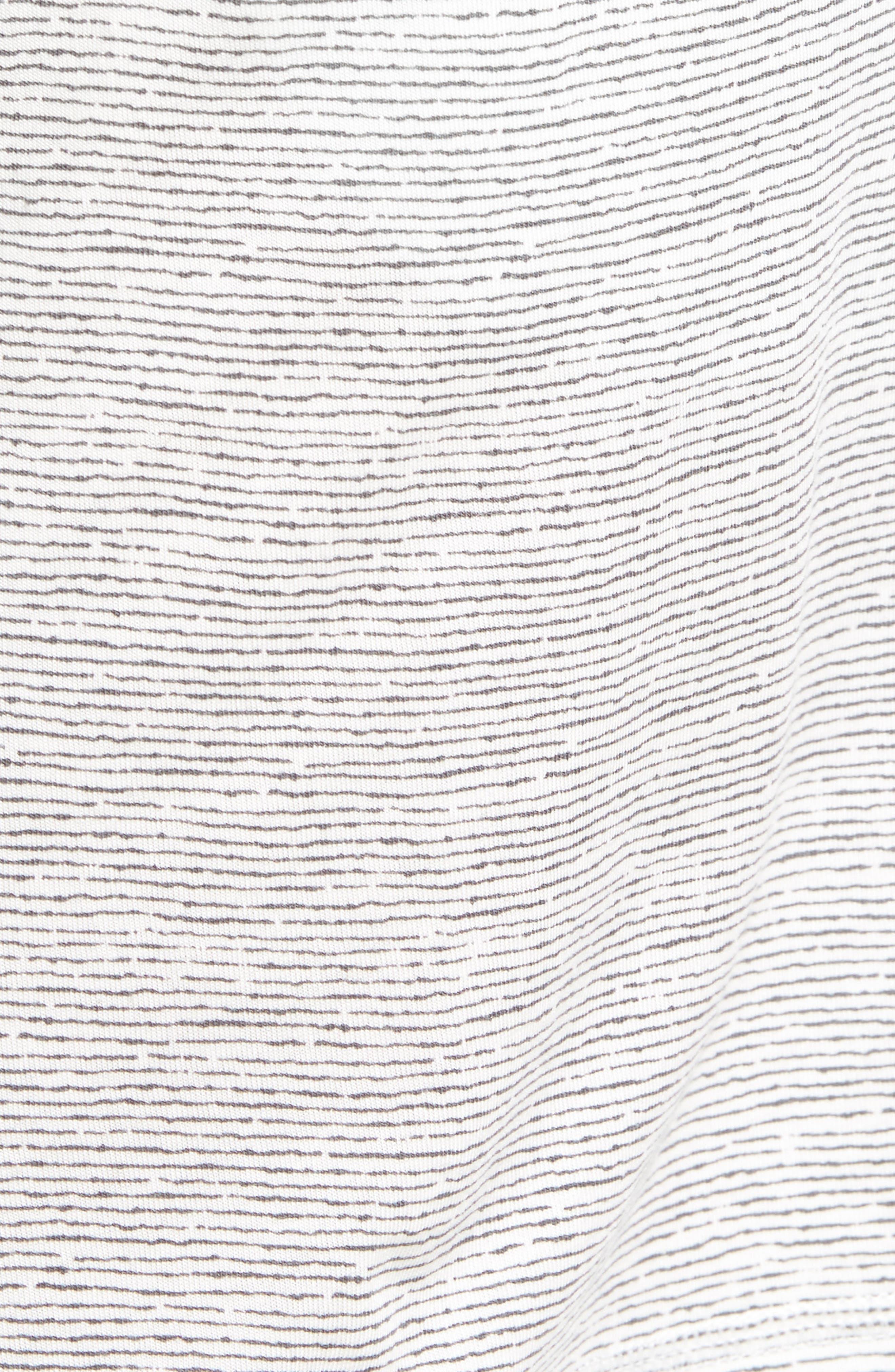 Feeder Stripe Pima Cotton & Modal Lounge Shorts,                             Alternate thumbnail 5, color,                             020