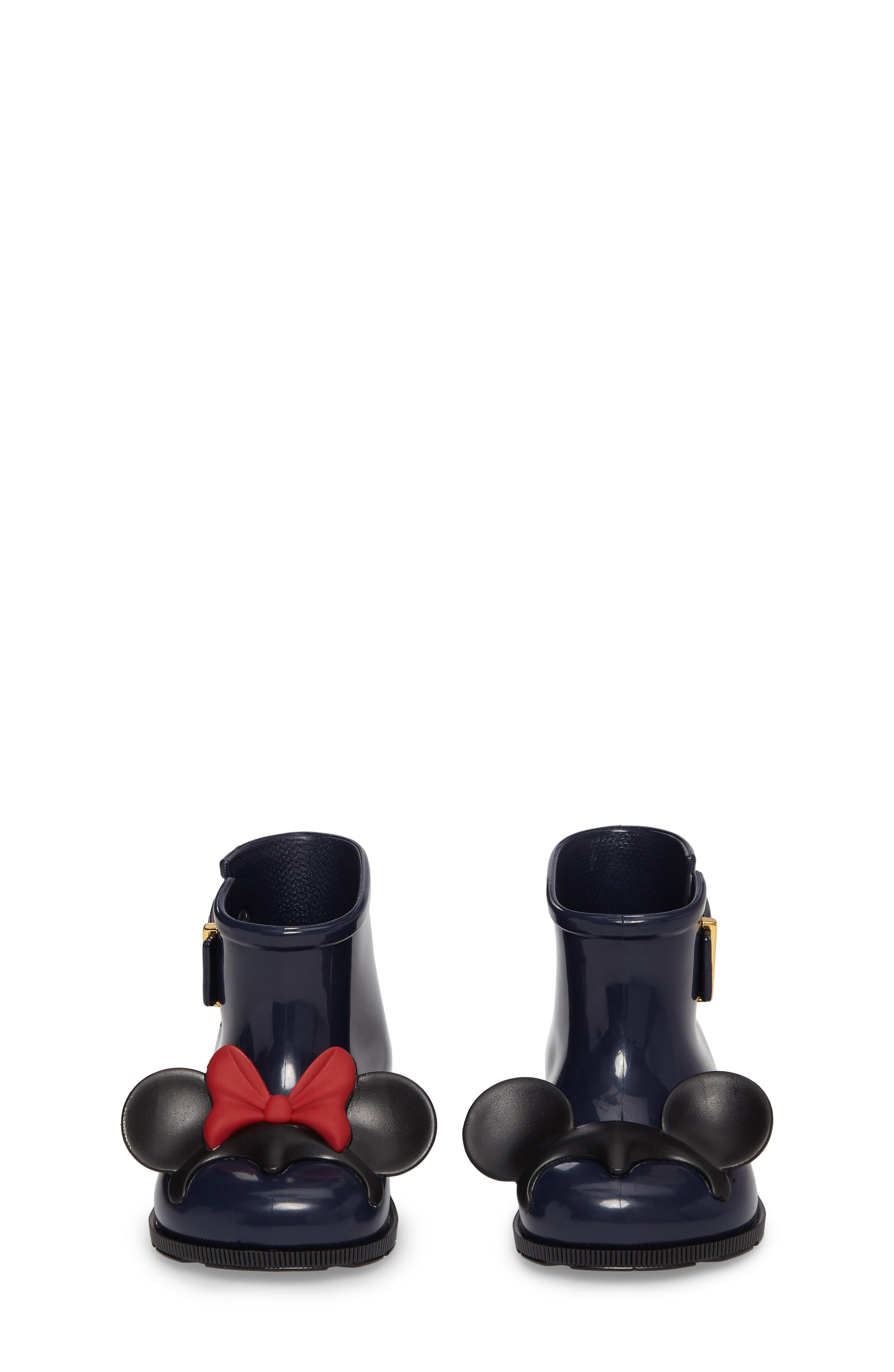 MELISSA,                             Mini Melissa Sugar Rain Disney Twins Waterproof Bootie,                             Alternate thumbnail 4, color,                             452