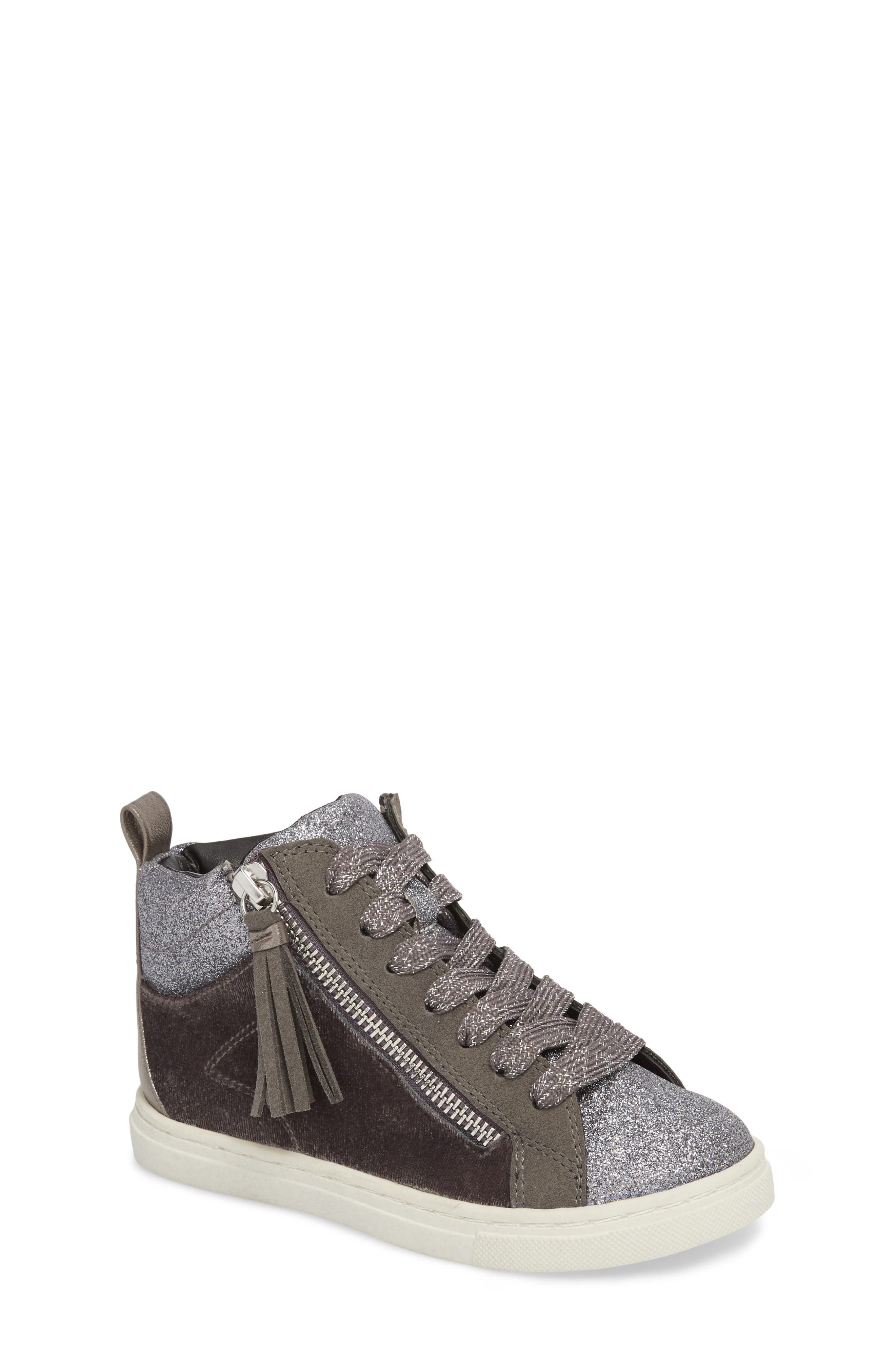 DOLCE VITA Zaila Glitter High Top Sneaker, Main, color, 034