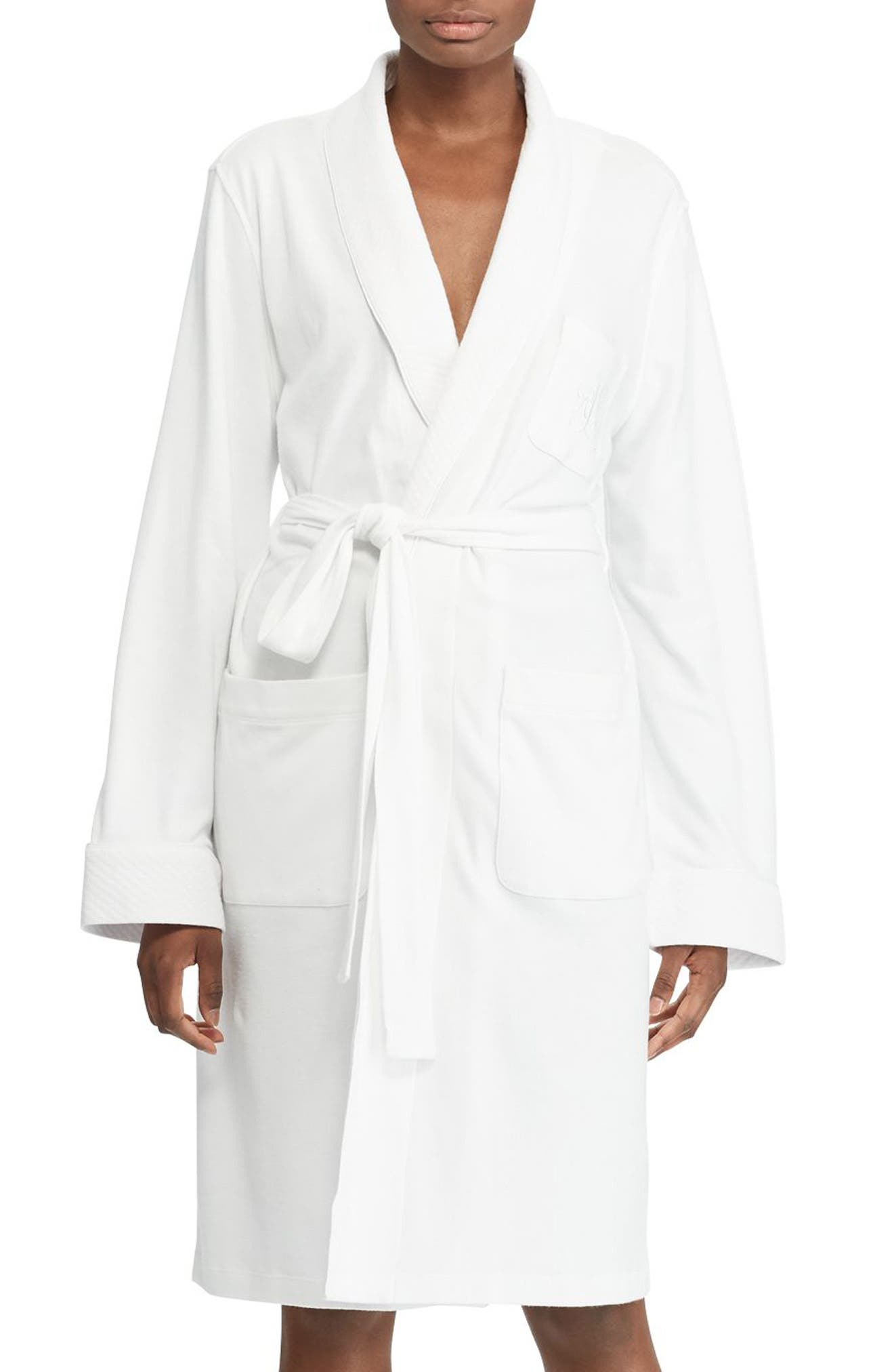 Quilted Collar Robe,                             Alternate thumbnail 2, color,                             WHITE