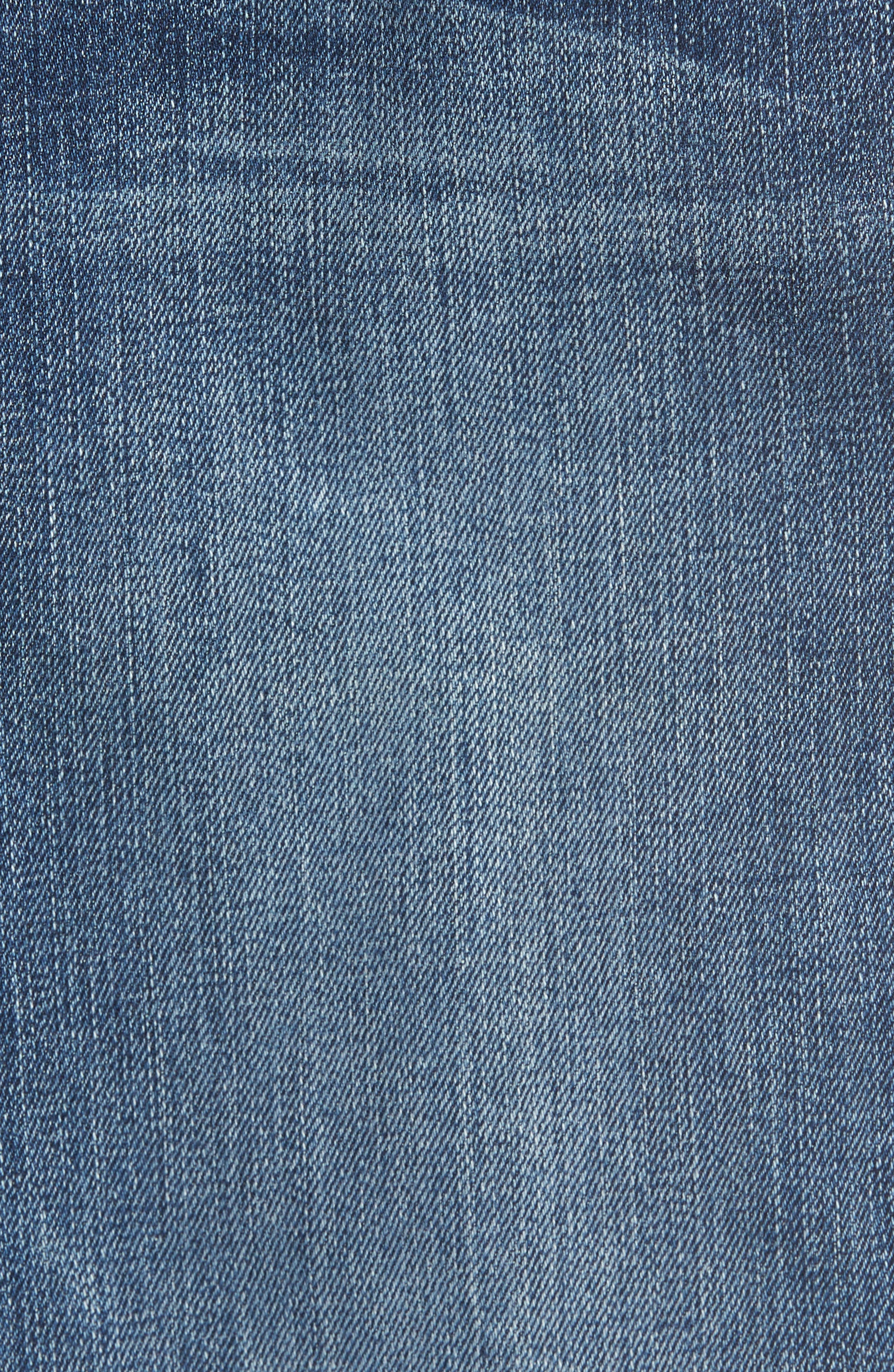 Good Legs High Waist American Flag Crop Skinny Jeans,                             Alternate thumbnail 5, color,
