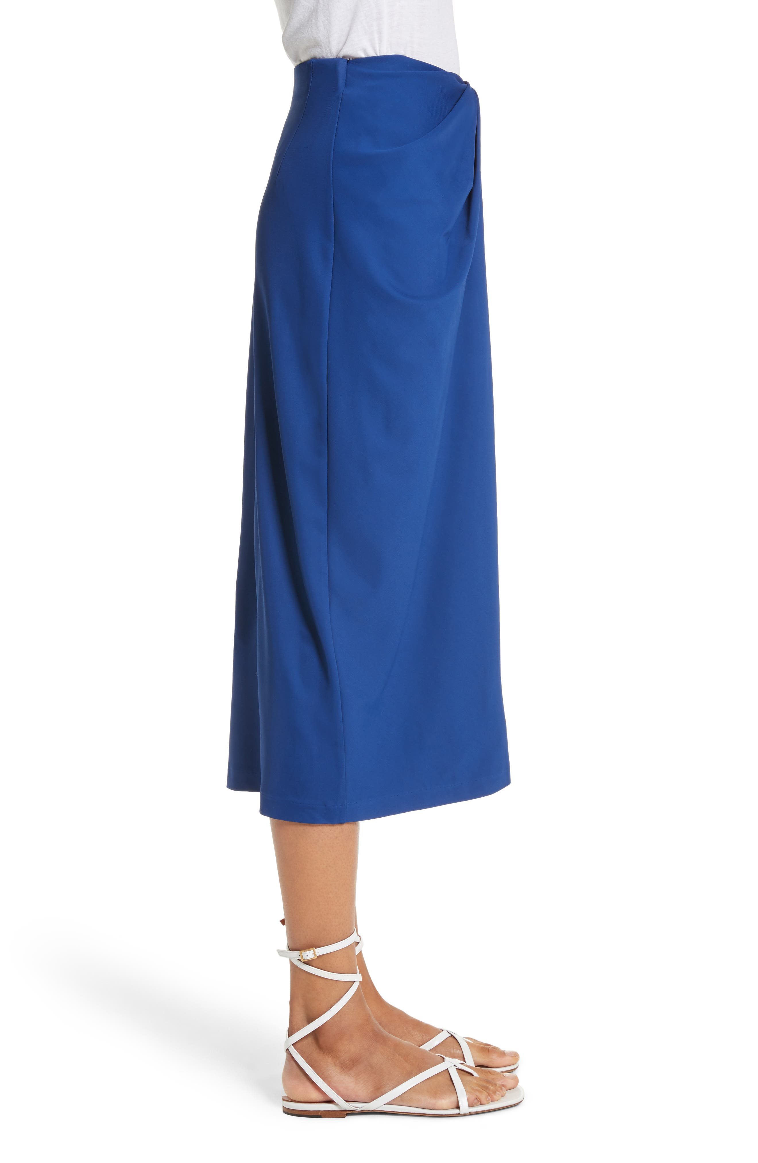 Jersey Twist Front Midi Skirt,                             Alternate thumbnail 3, color,