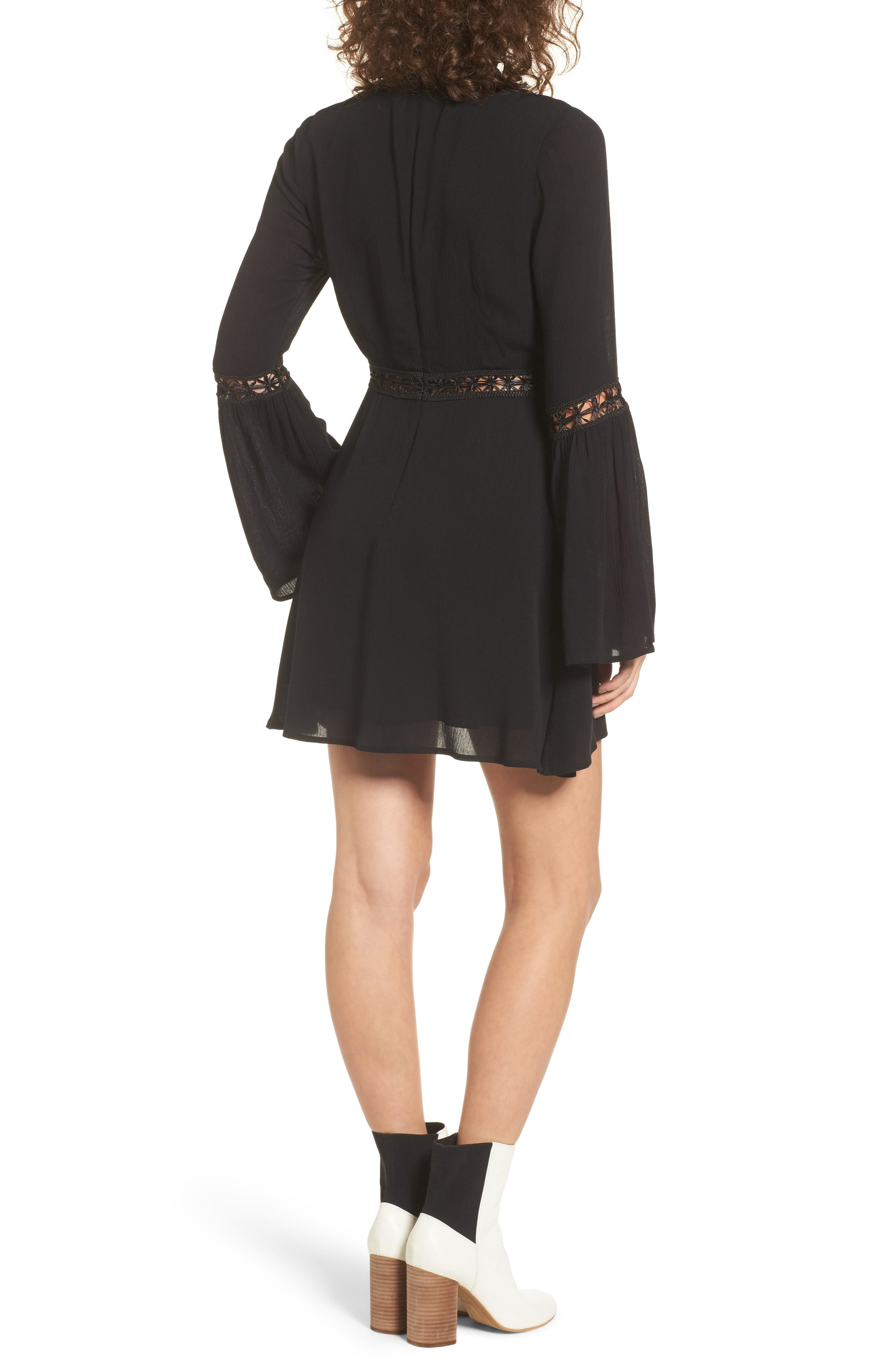Indie May Bell Sleeve Minidress,                             Alternate thumbnail 2, color,