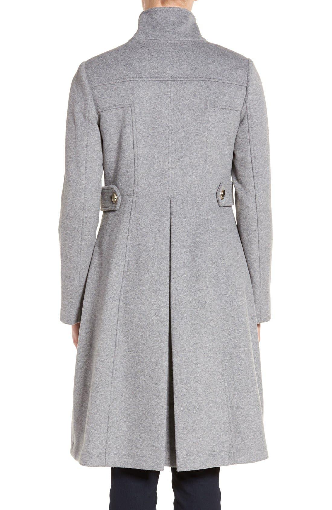 Wool Blend Long Military Coat,                             Alternate thumbnail 7, color,