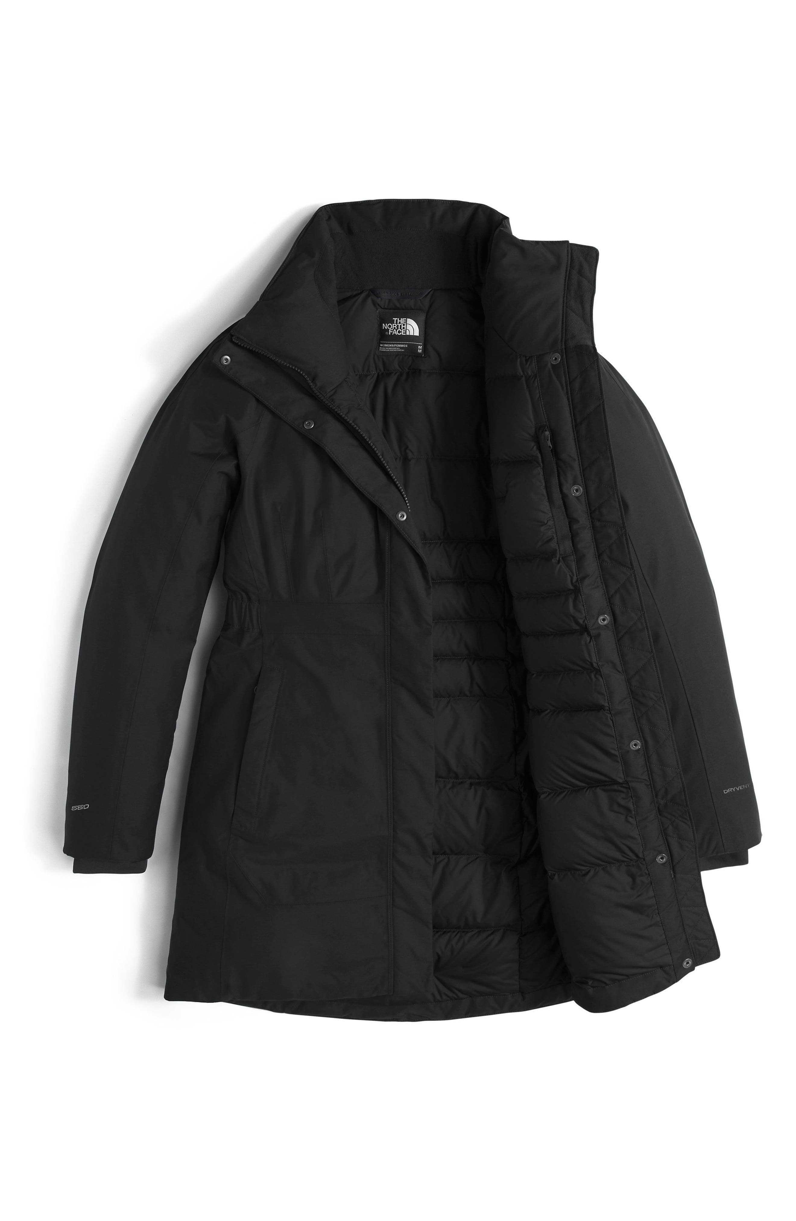 Arctic II Waterproof 550-Fill-Power Down Parka with Faux Fur Trim,                             Alternate thumbnail 7, color,                             TNF BLACK
