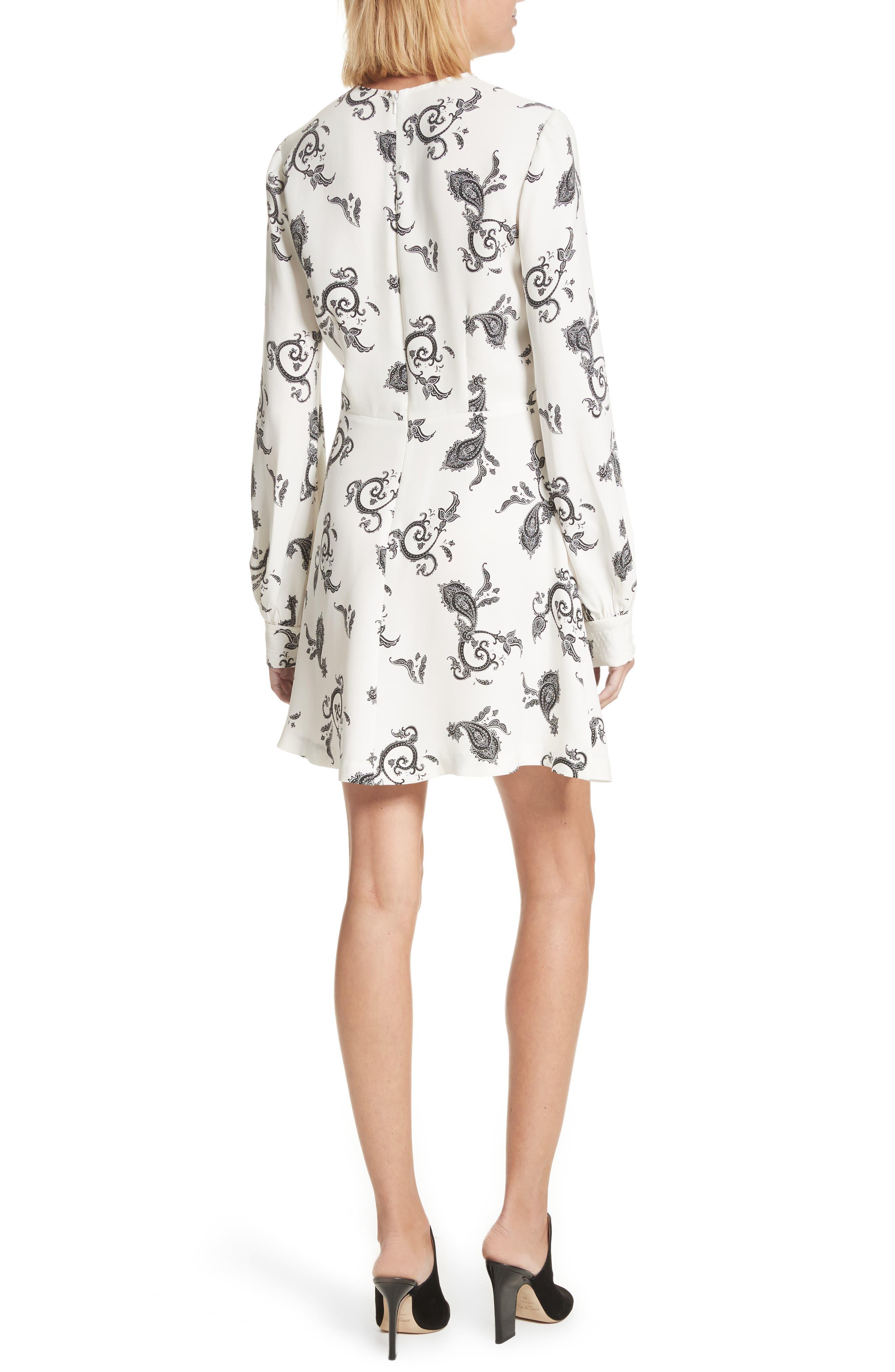 Lauren Print Silk Dress,                             Alternate thumbnail 2, color,                             904