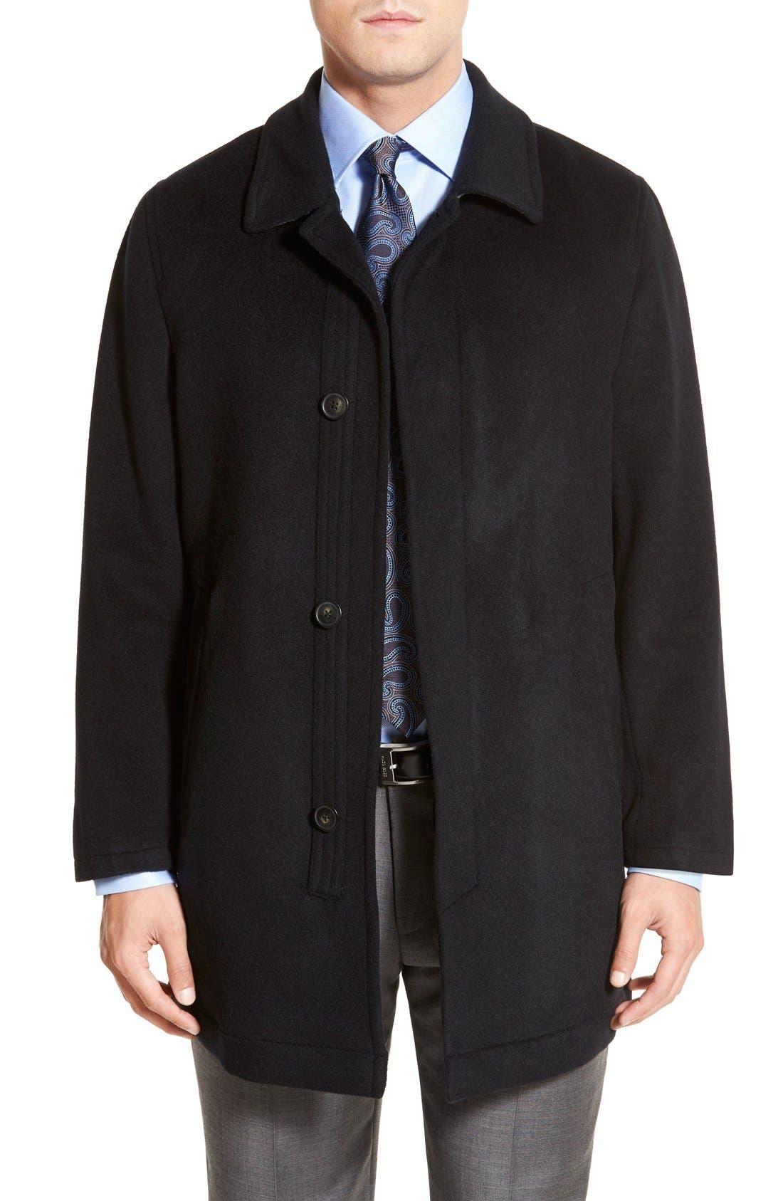 Douglas Modern Fit Wool & Cashmere Overcoat,                             Main thumbnail 1, color,