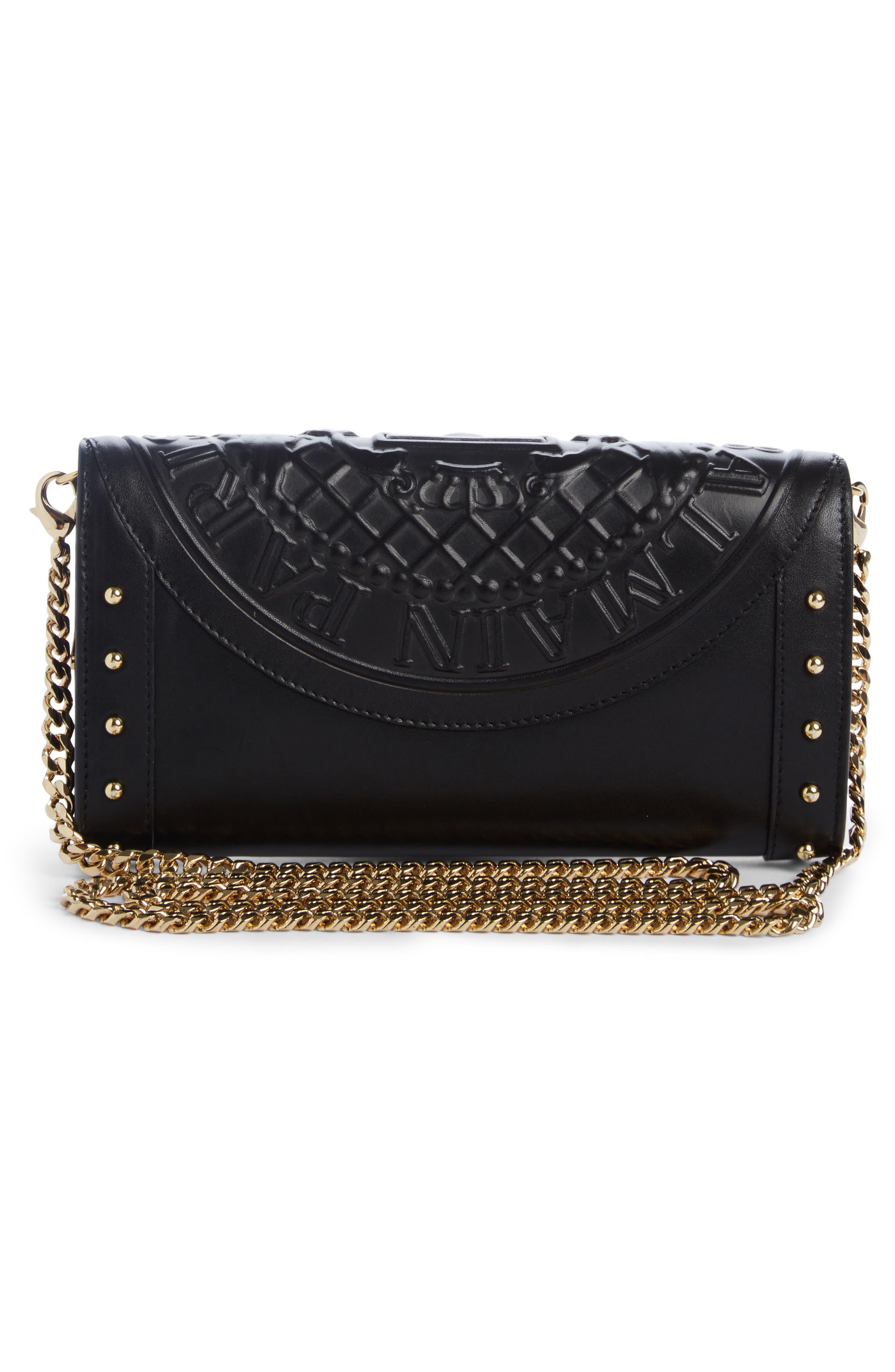 Renaissance Leather Wallet on a Chain,                             Alternate thumbnail 2, color,                             NOIR