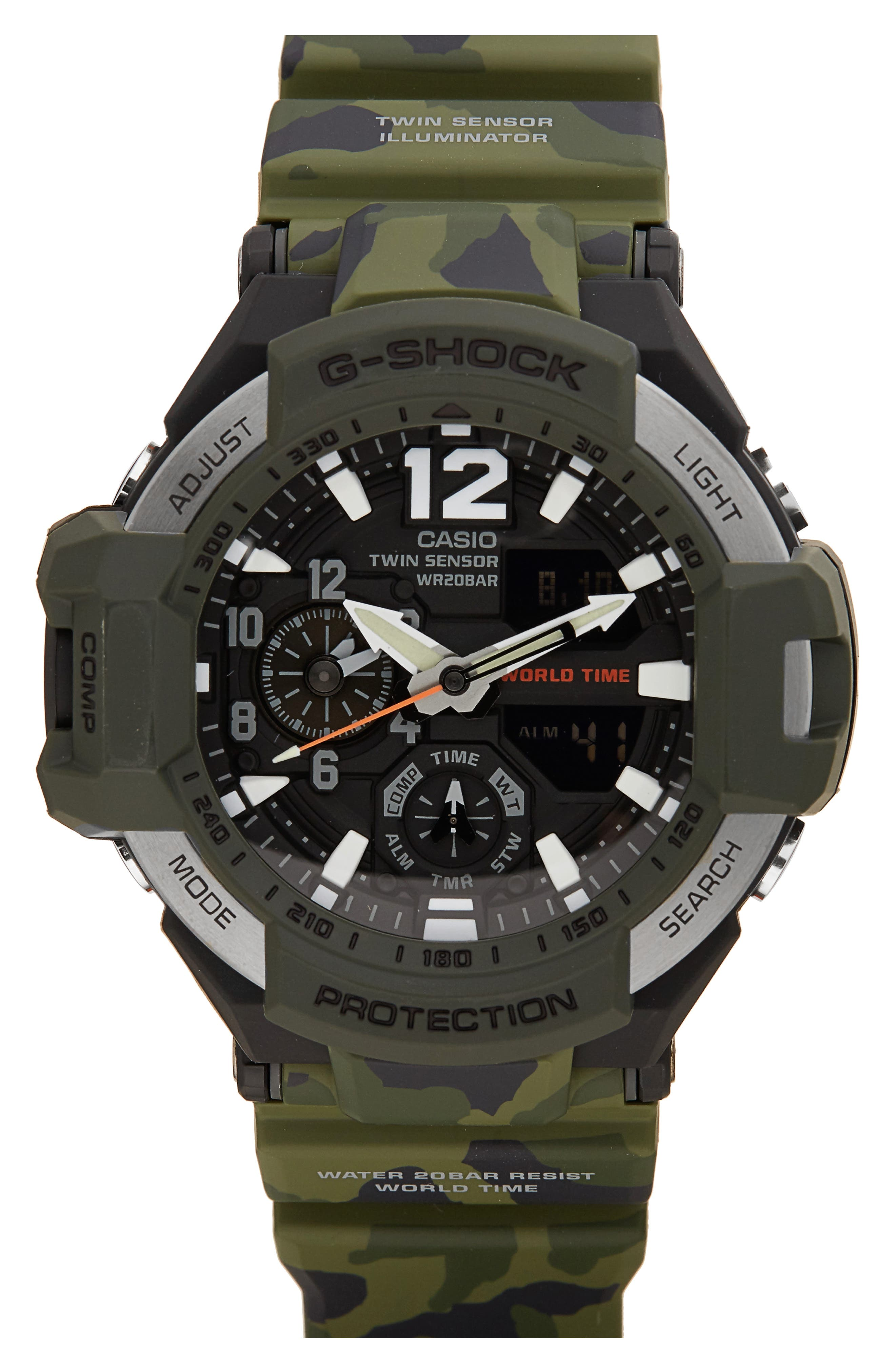 G-Shock Gravitymaster Ana-Digi Resin Watch, 52mm,                         Main,                         color, 300