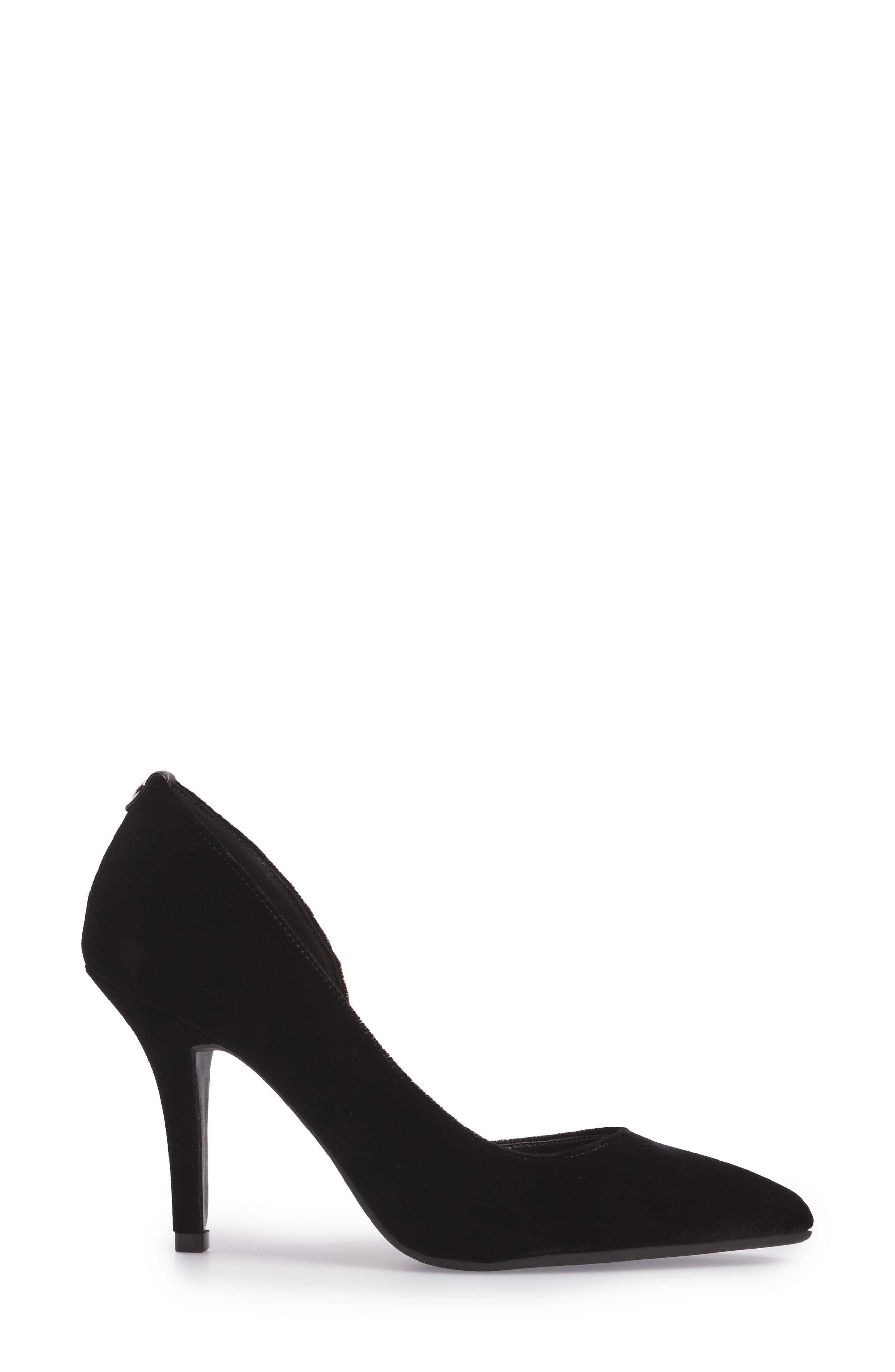 'Nathalie Flex' Half D'Orsay Pump,                             Alternate thumbnail 3, color,                             002
