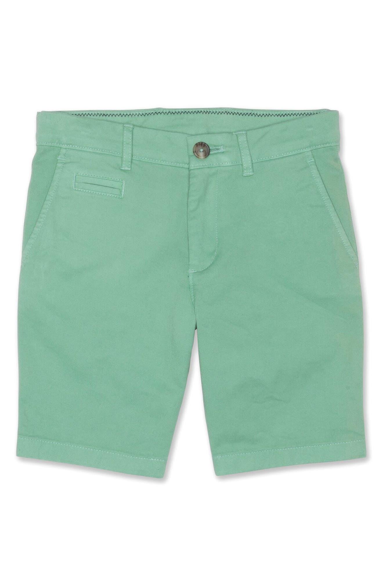 Boys JohnnieO Neal Twill Shorts Size 10  Green