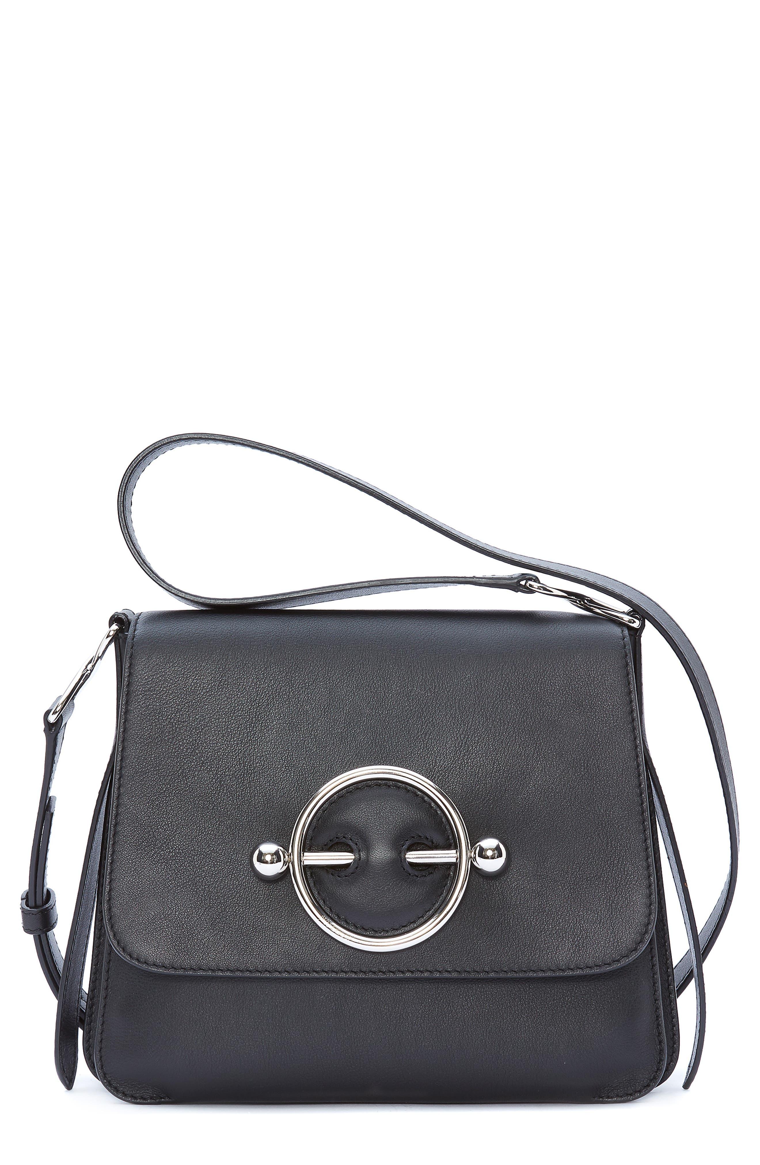 JW ANDERSON Disc Crossbody Bag, Main, color, BLACK