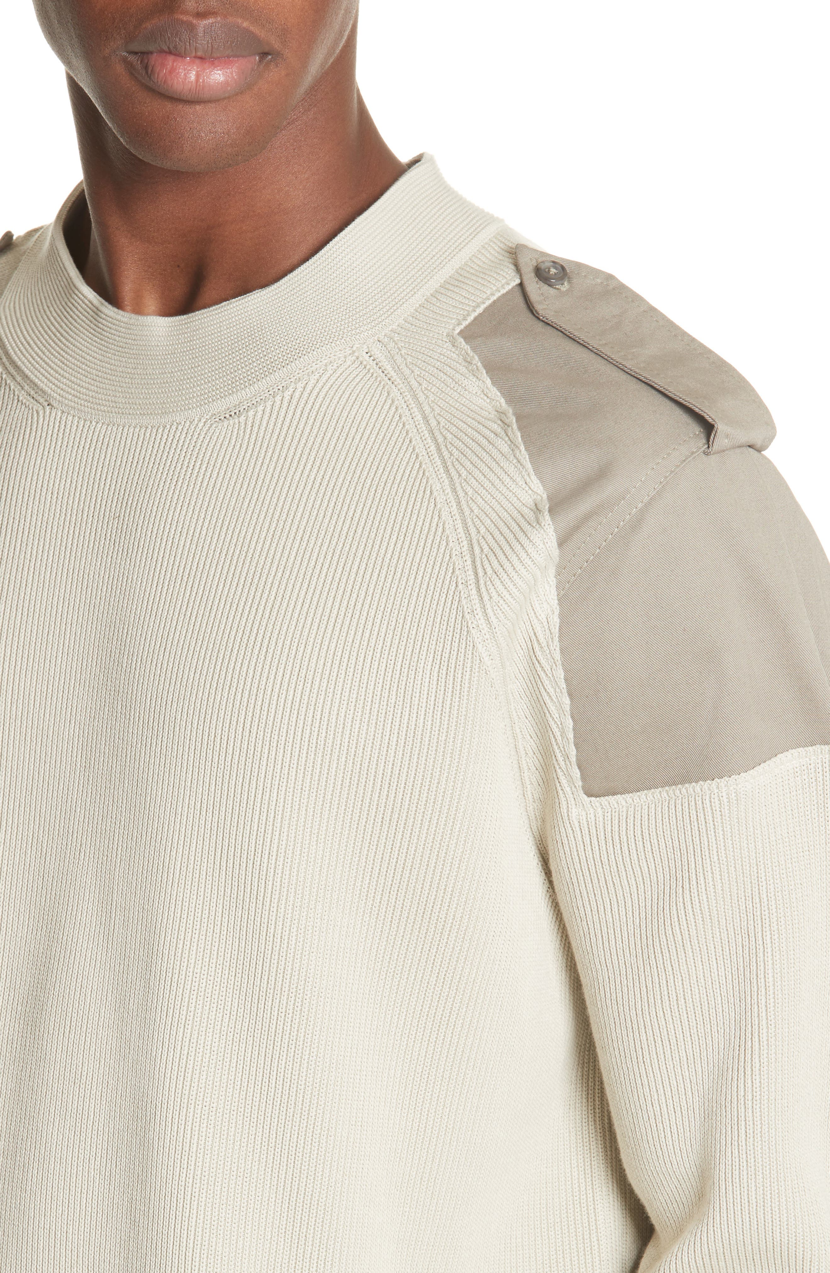 Two-Tone Military Sweater,                             Alternate thumbnail 4, color,                             242