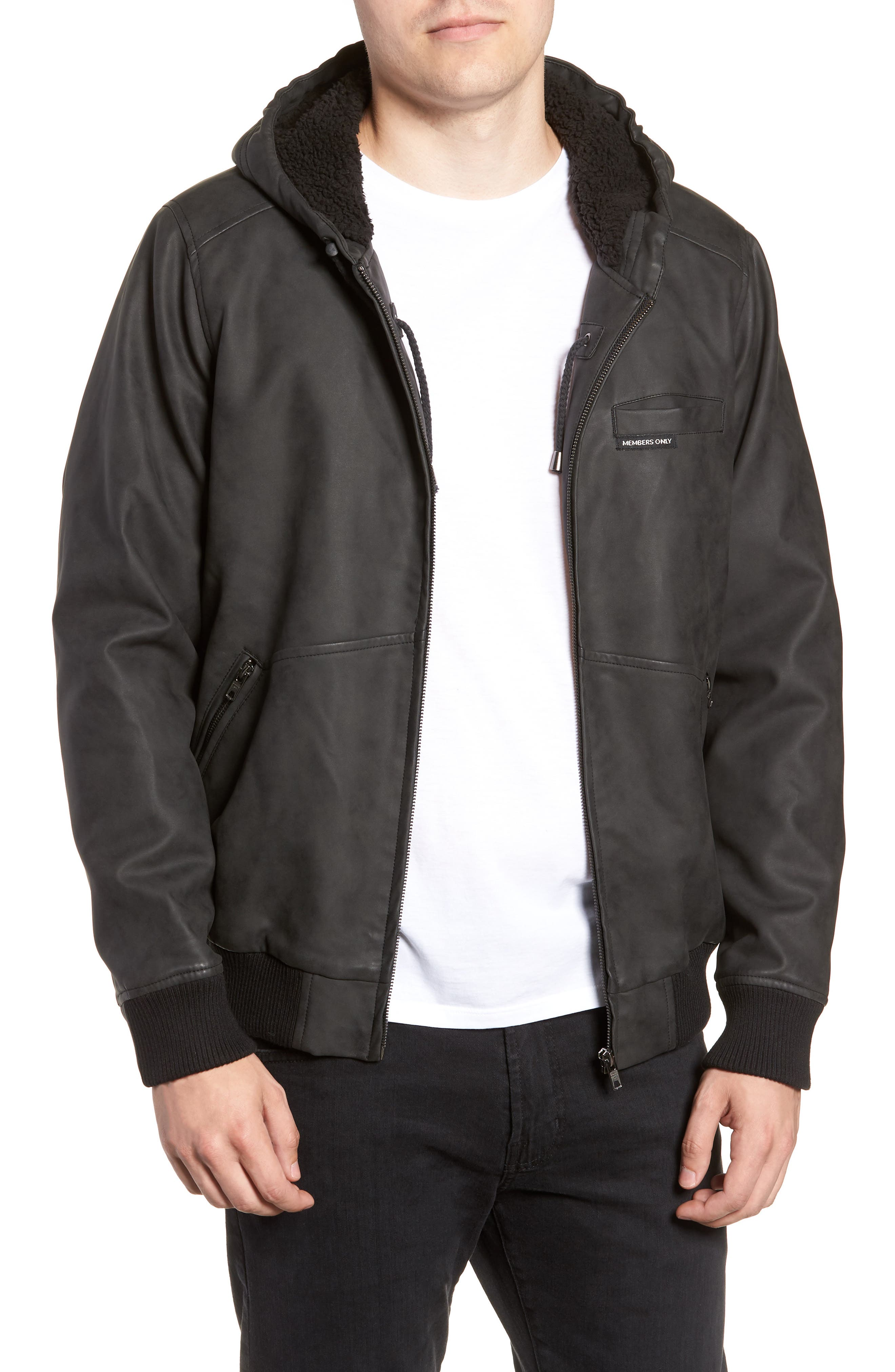 Hooded Bomber Jacket,                         Main,                         color, 020