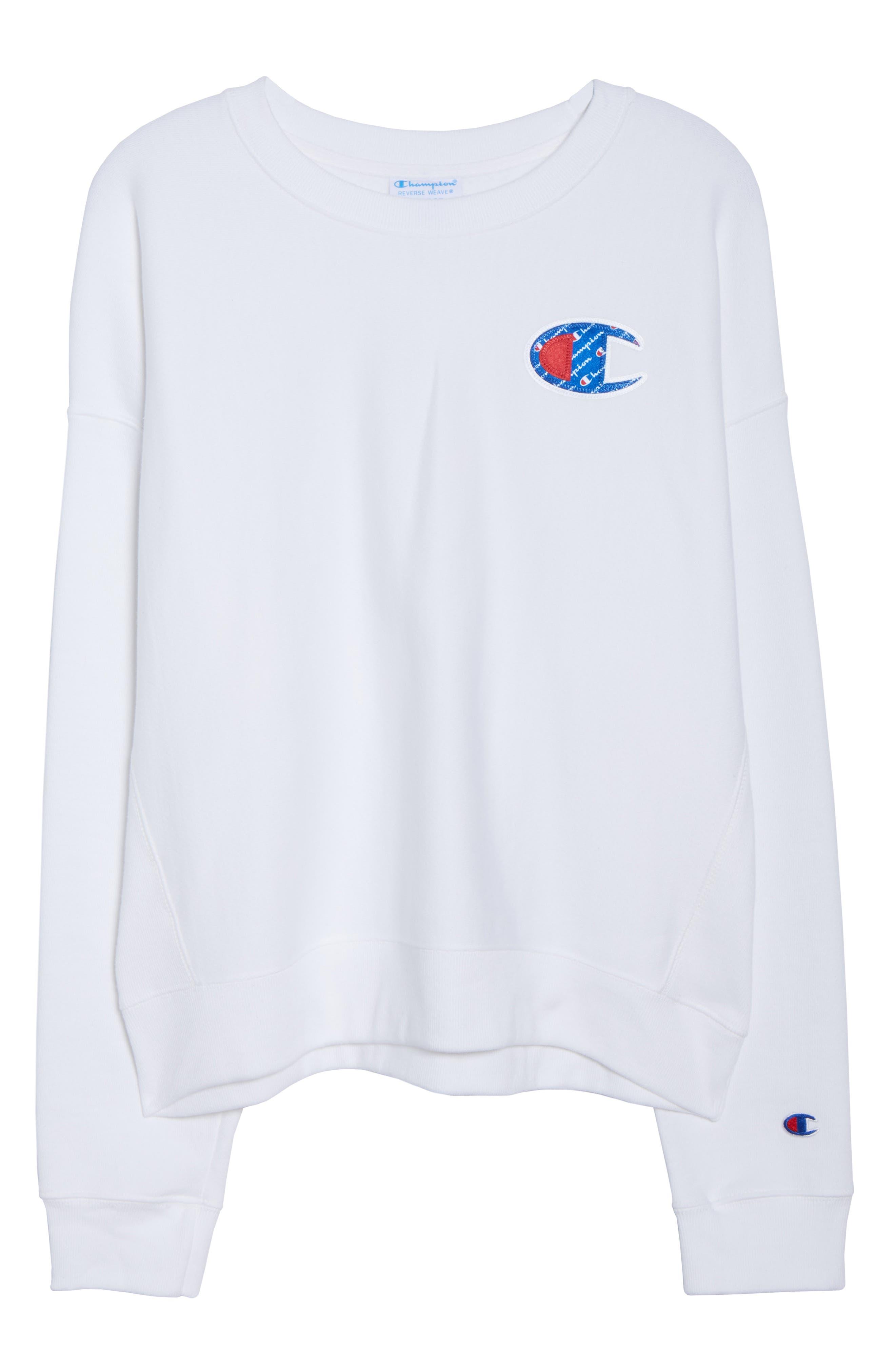 Sublimated Logo Sweatshirt,                             Alternate thumbnail 12, color,                             WHITE