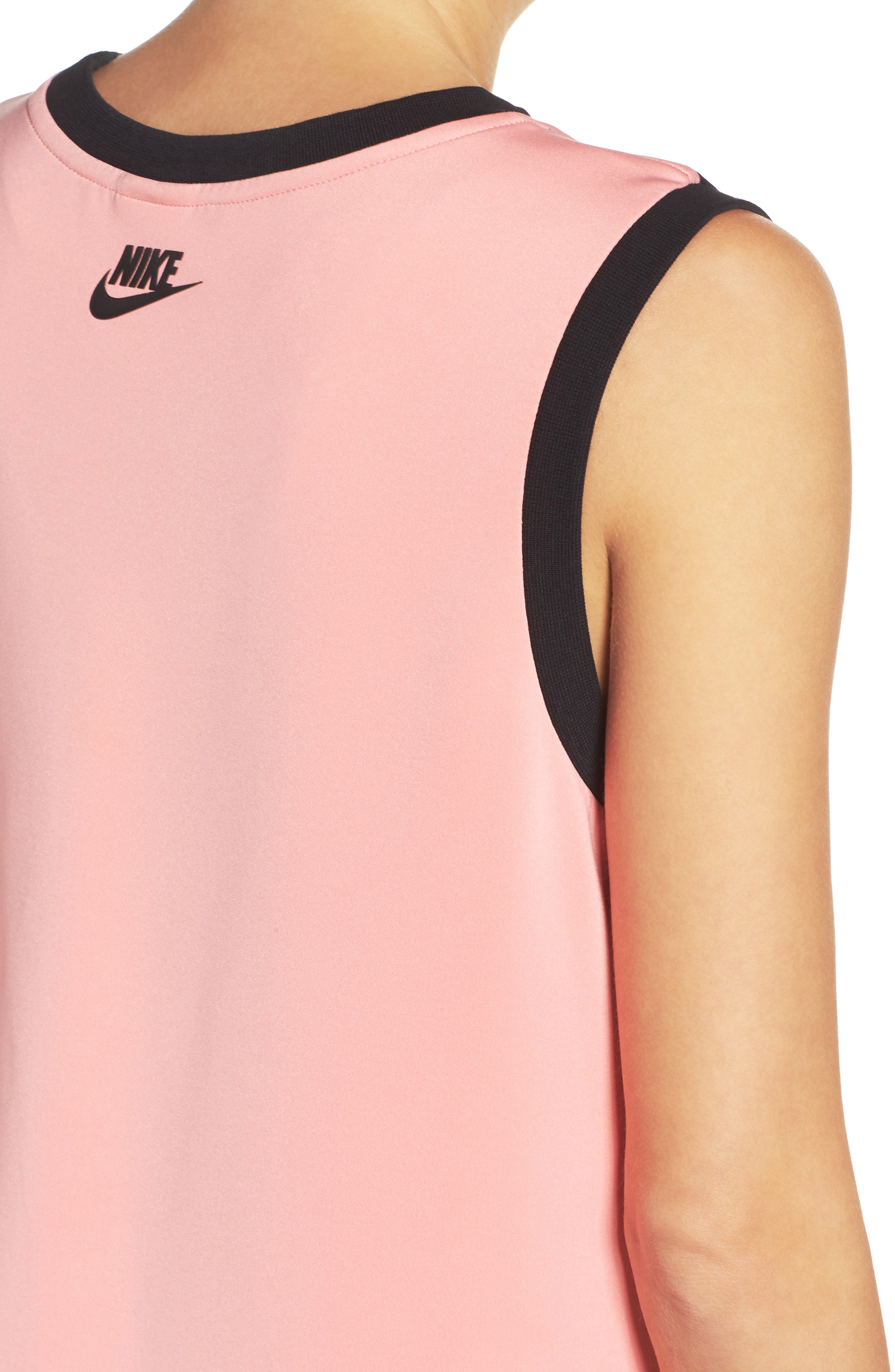 NIKE,                             Irreverent Tank Dress,                             Alternate thumbnail 4, color,                             010