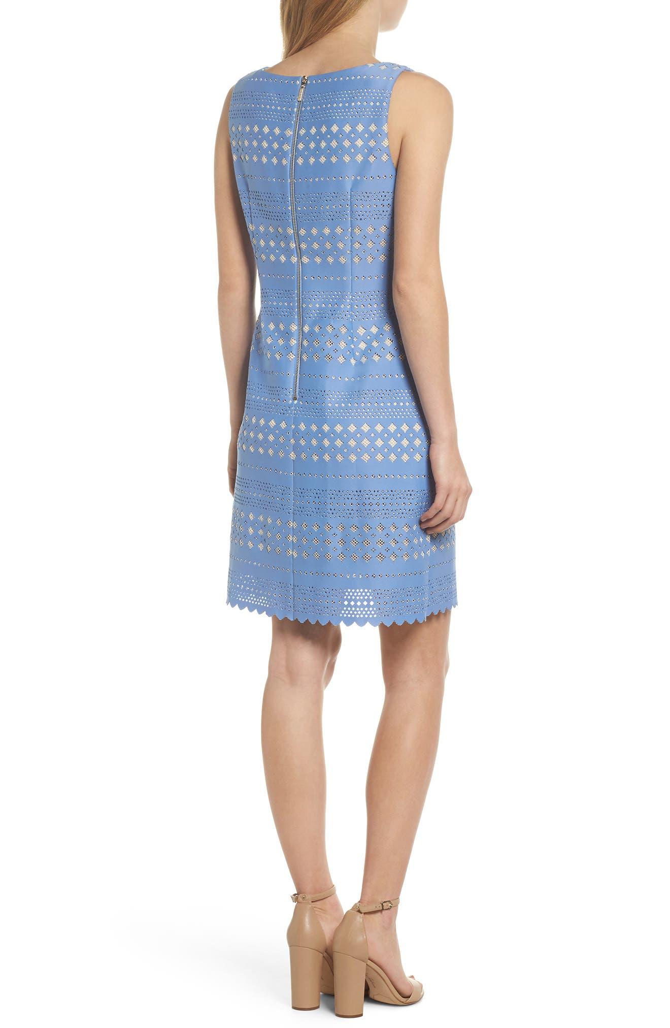 Laser Cut Sheath Dress,                             Alternate thumbnail 2, color,                             453
