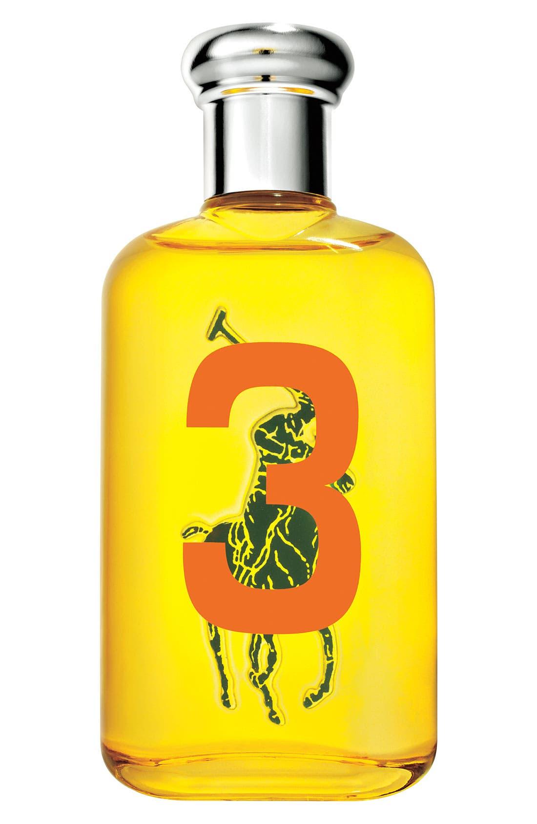RALPH LAUREN,                             'Big Pony #3 - Yellow' For Her Eau de Toilette,                             Main thumbnail 1, color,                             000