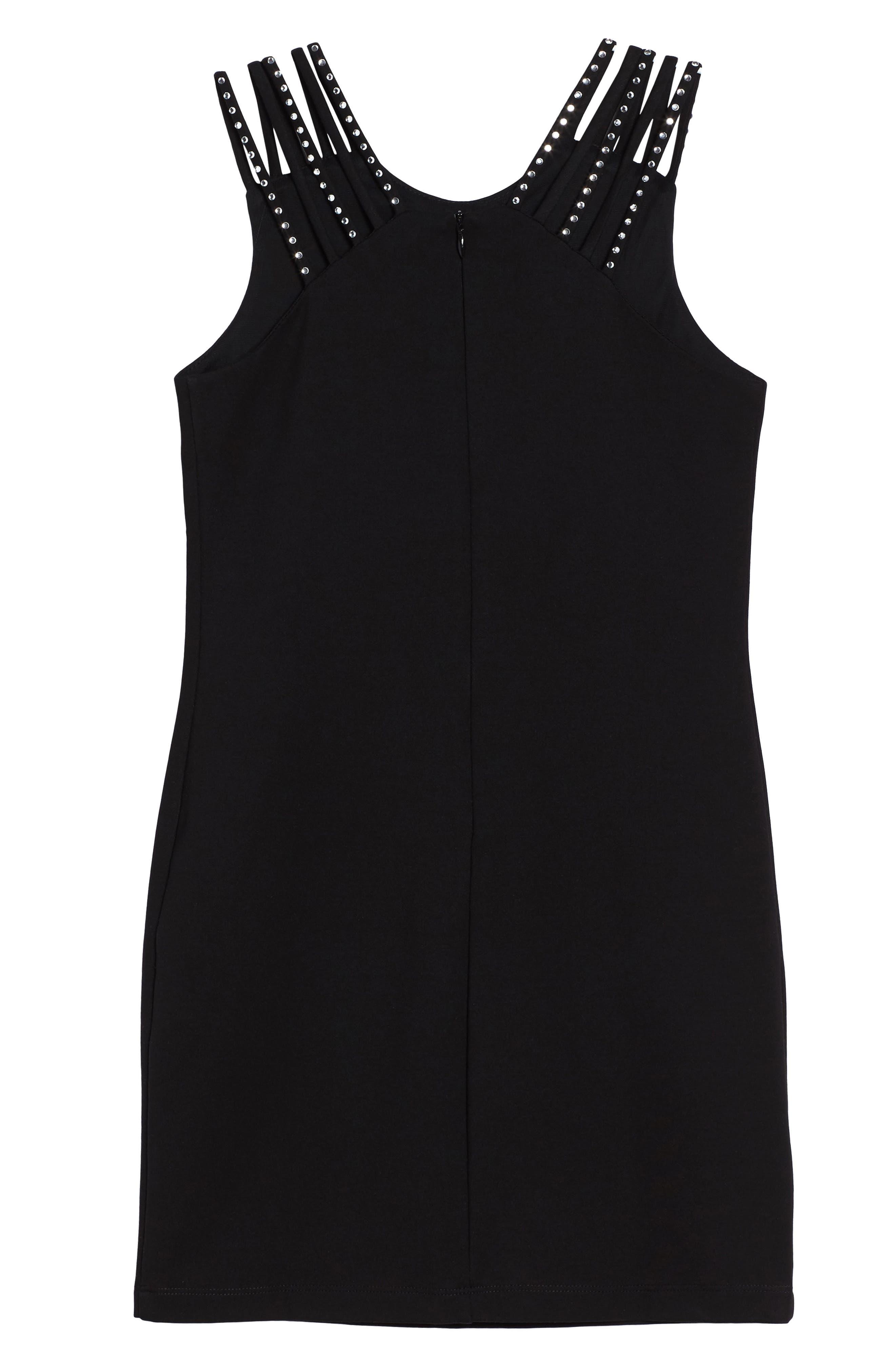 Embellished Strappy Dress,                             Alternate thumbnail 2, color,                             001