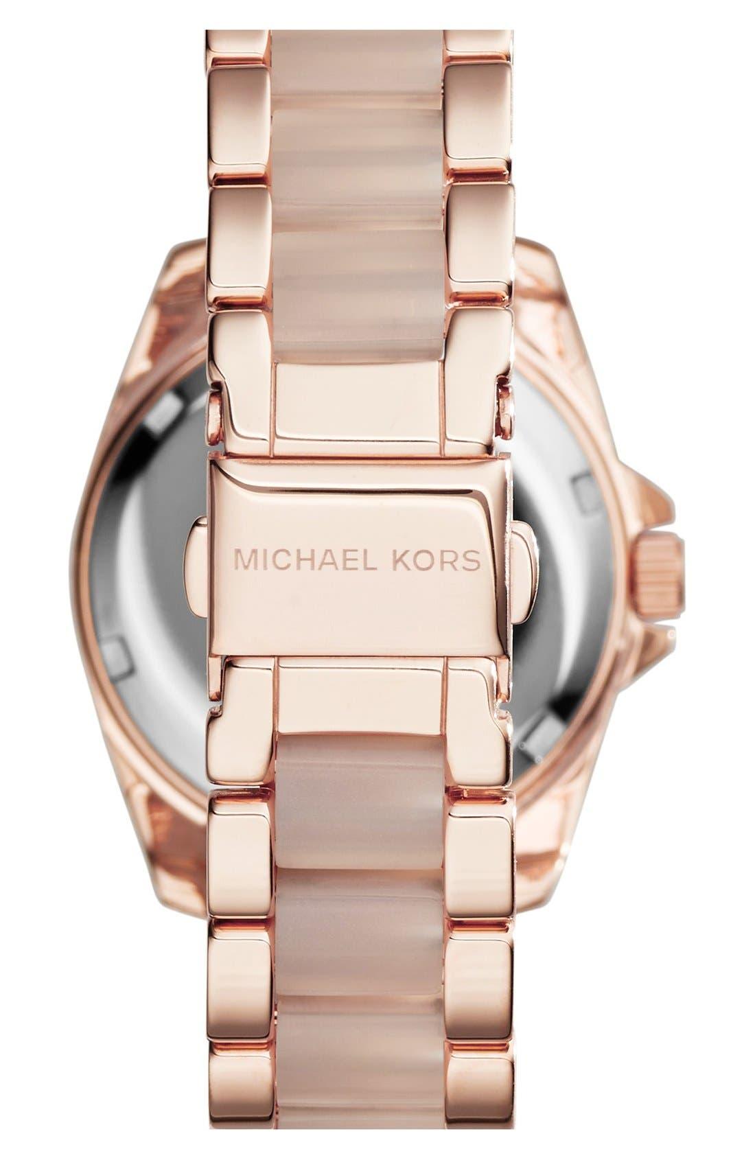 'MiniBlair' Multifunction Bracelet Watch, 33mm,                             Alternate thumbnail 3, color,