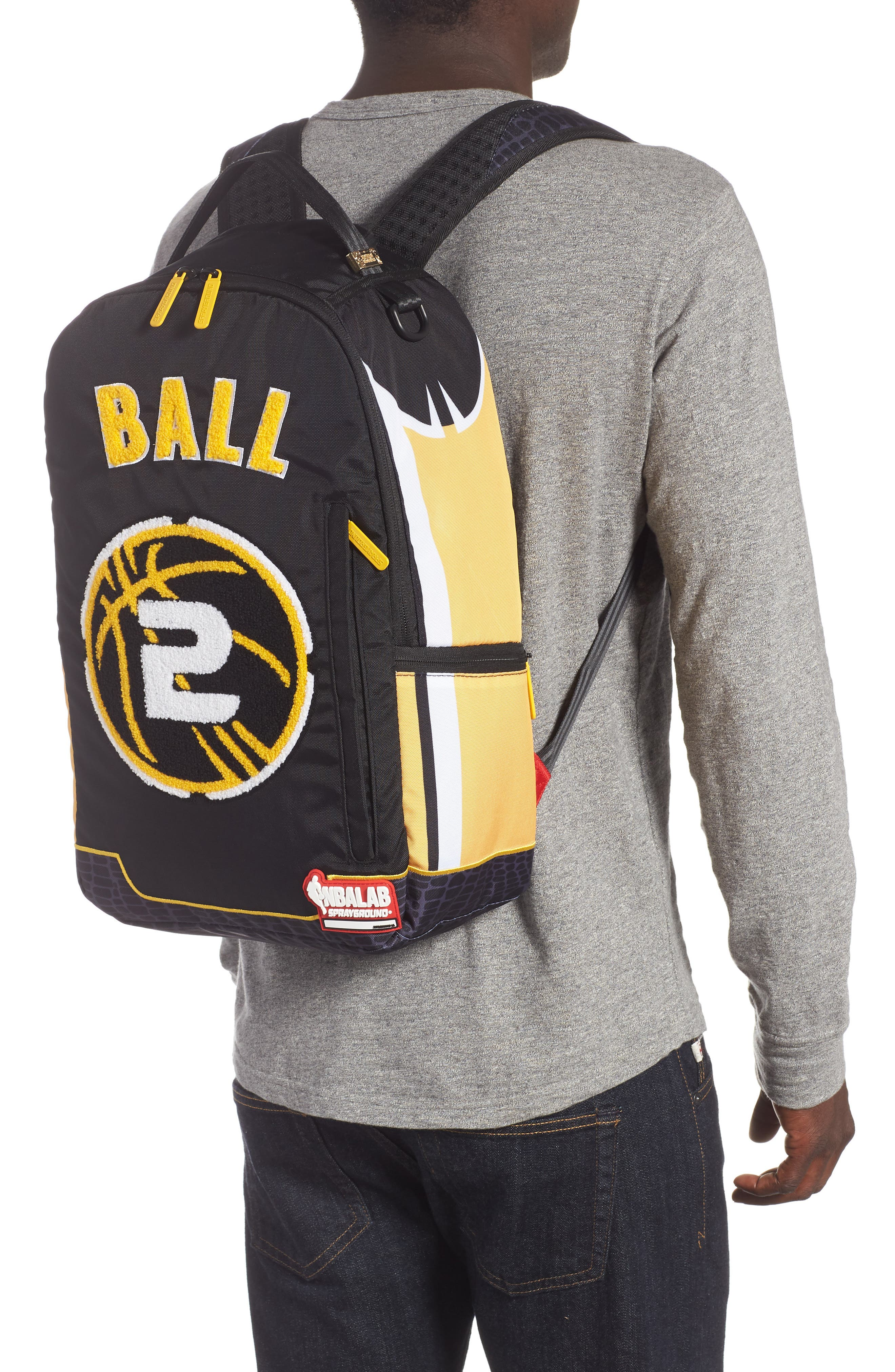 Ball Jersey Backpack,                             Alternate thumbnail 2, color,                             BLACK