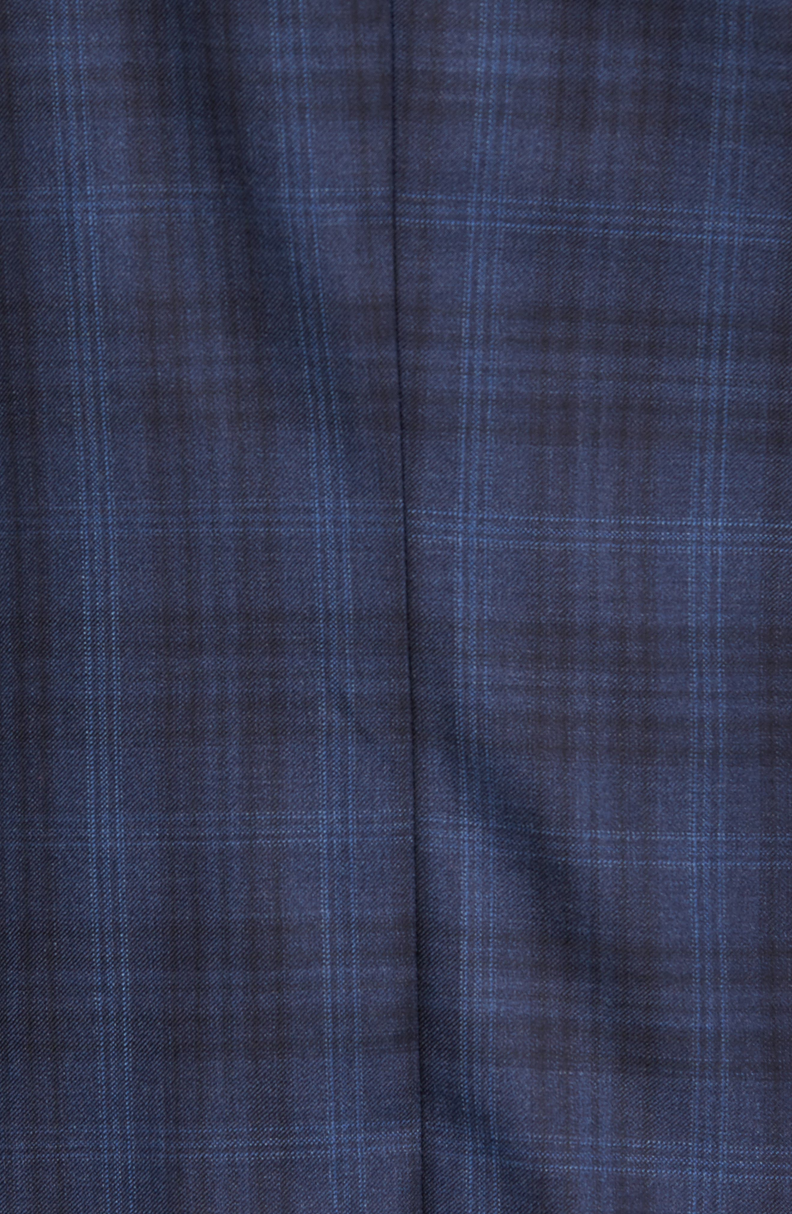 Midnatt Trim Fit Plaid Wool Sport Coat,                             Alternate thumbnail 6, color,                             465