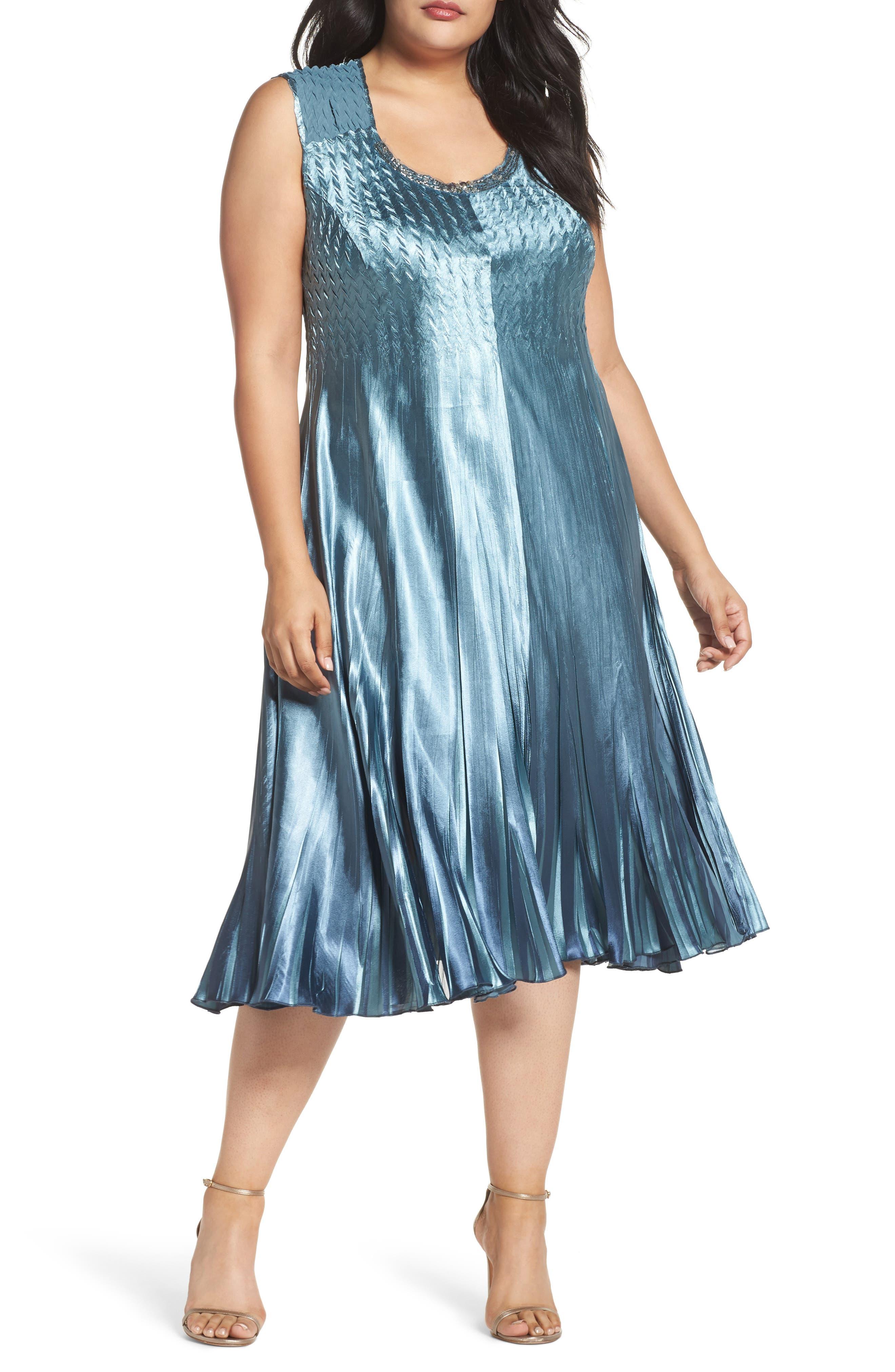 Embellished Charmeuse & Chiffon Dress with Jacket,                             Alternate thumbnail 3, color,                             460