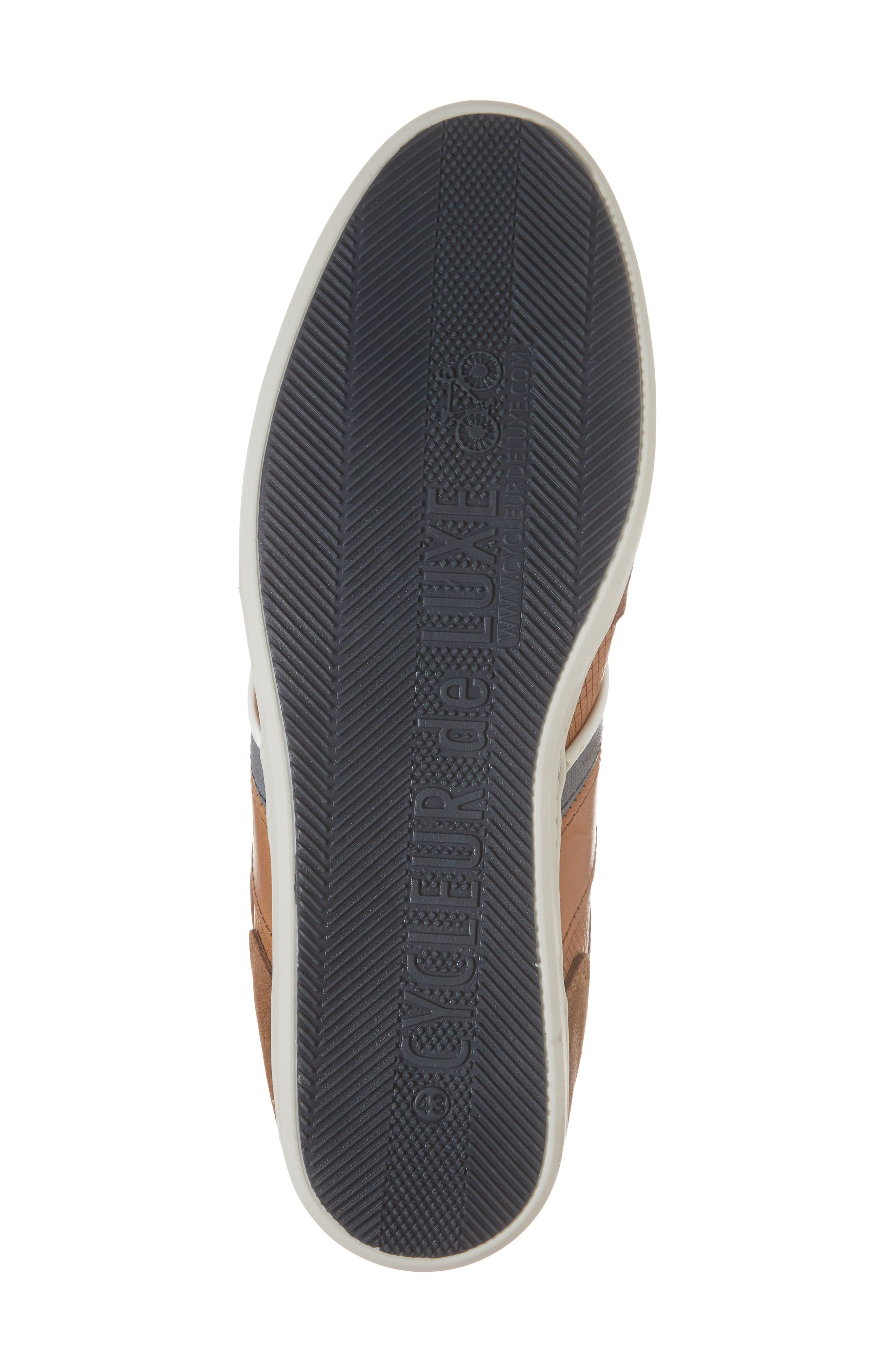 Bahamas Low Top Sneaker,                             Alternate thumbnail 6, color,                             COGNAC LEATHER
