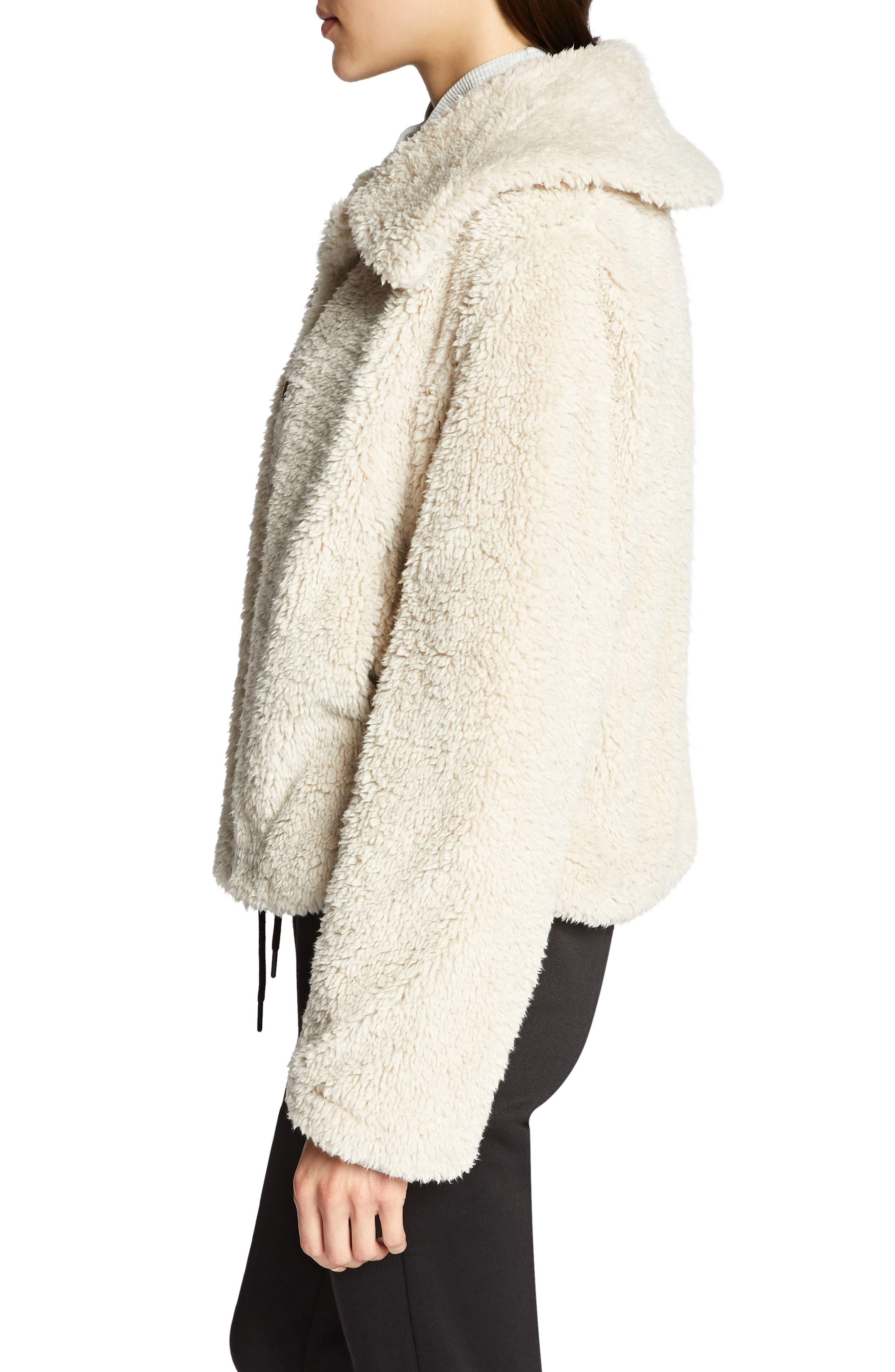 I Feel Luv Faux Fur Sherpa Jacket,                             Alternate thumbnail 3, color,                             CHAMPAGNE