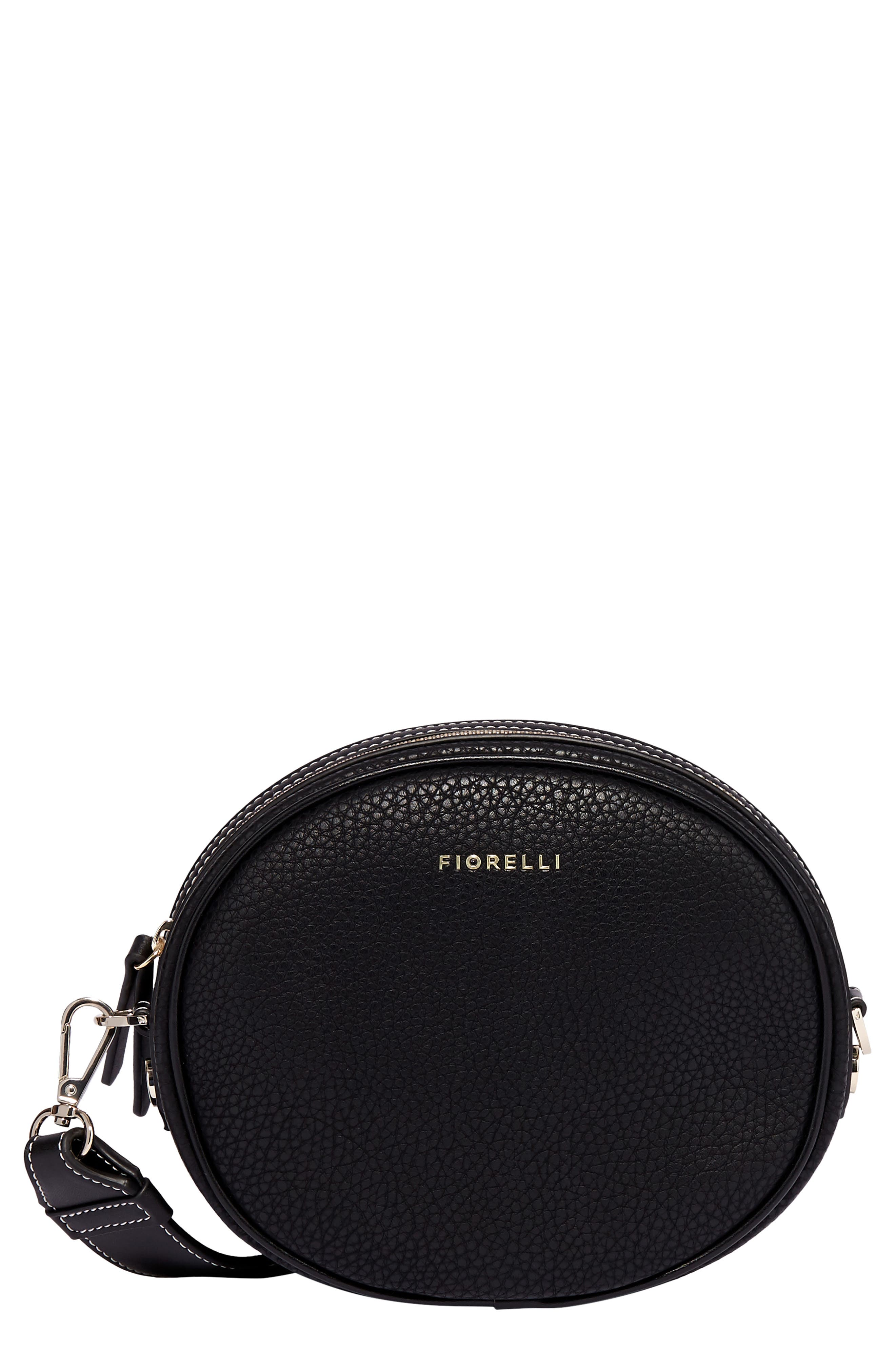 Boo Faux Leather Shoulder Bag,                         Main,                         color, BLACK