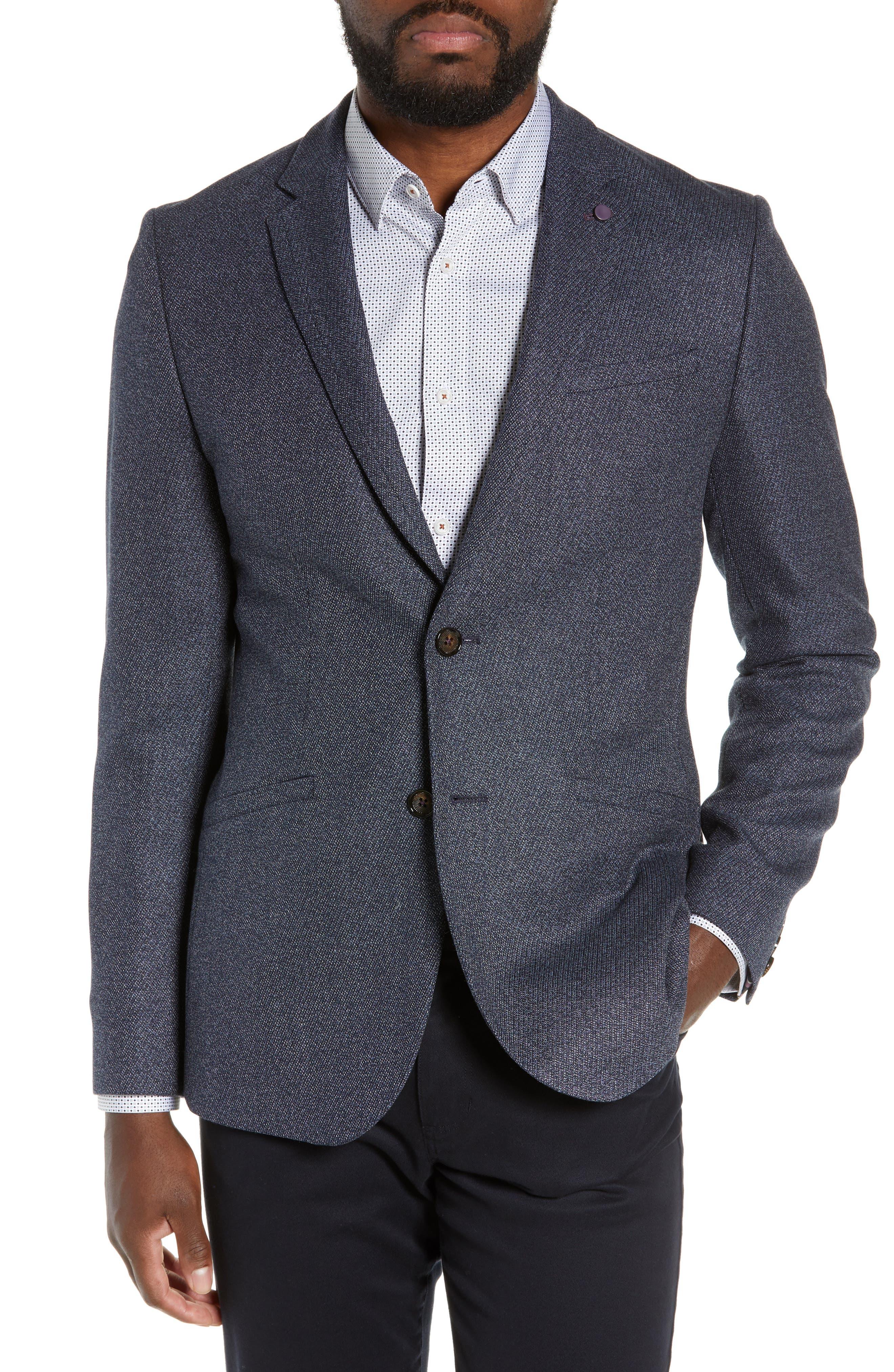 Twill Sport Coat,                         Main,                         color, BLUE